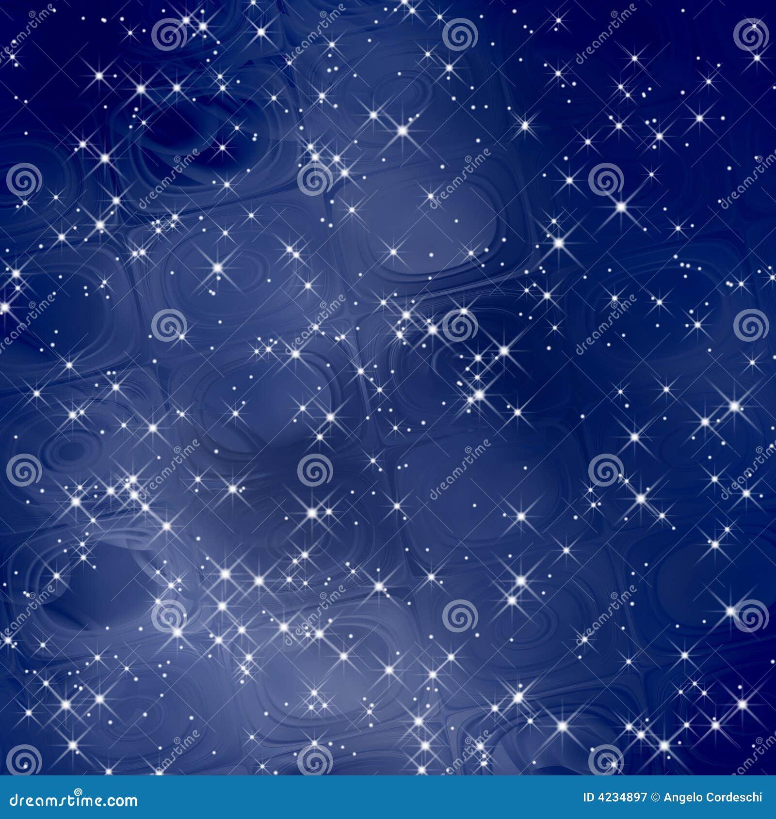 Magicznego tła błękitny skala/Gwiazdy