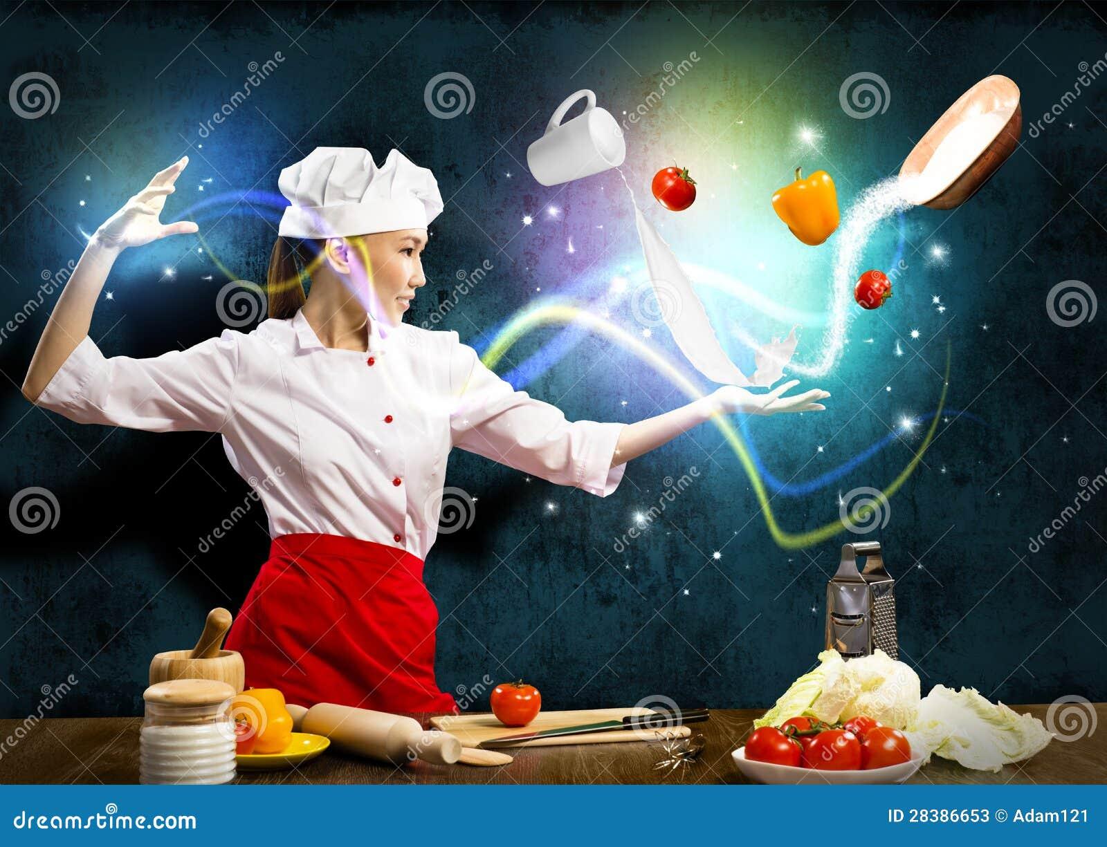 cuisine magique photo stock - image: 45236402
