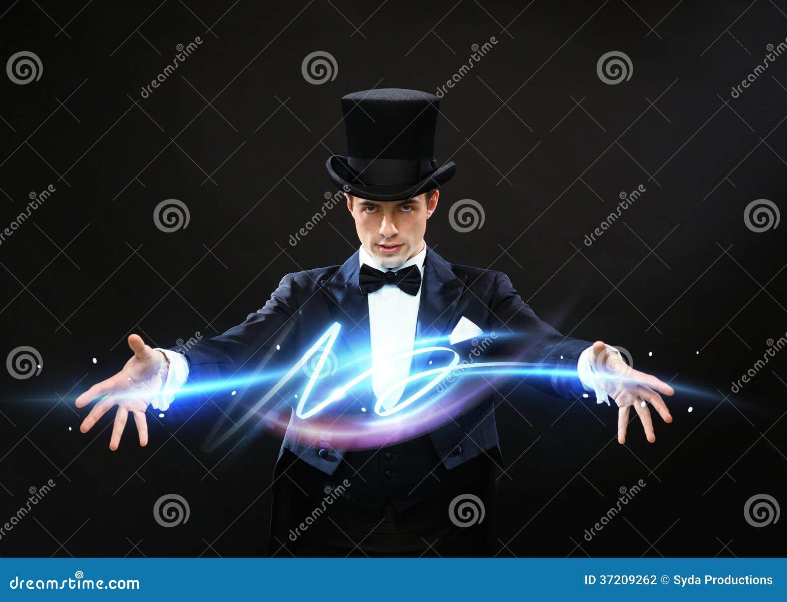 Magik w odgórnego kapeluszu seansu sztuczce