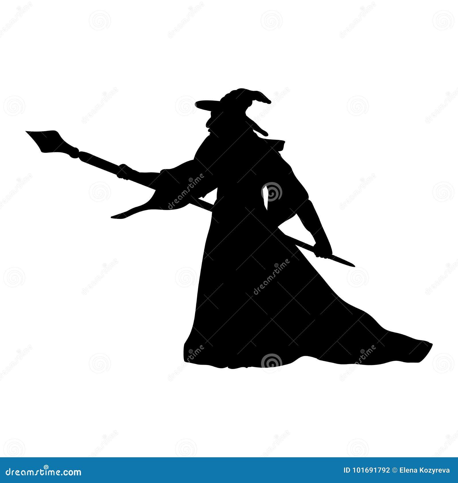 Magika czarownika charakteru sylwetki fantazja