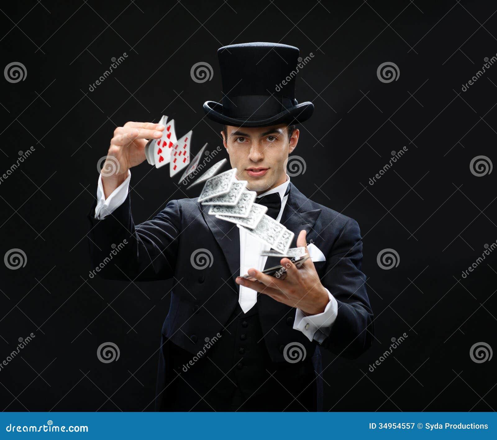 Magika seansu sztuczka z karta do gry