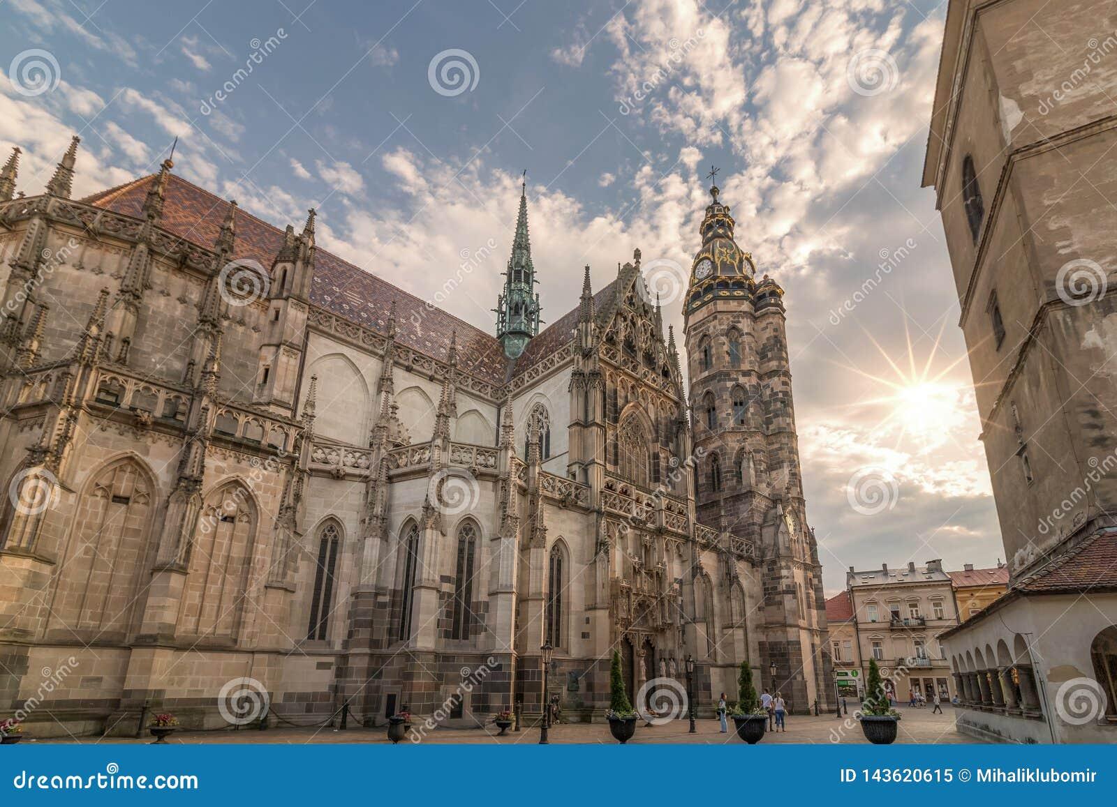 Magisch ogenblik en majestueuze kathedraal