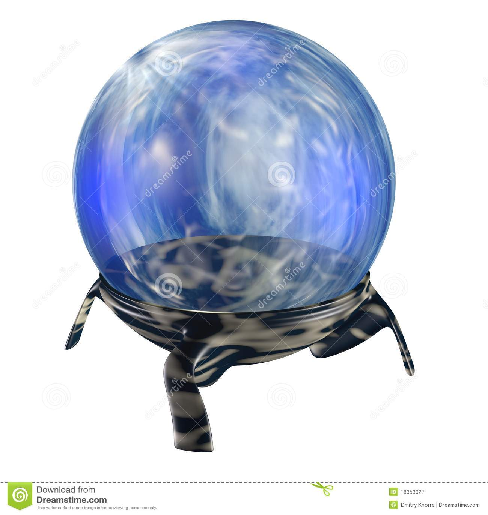 Magische blauwe orb