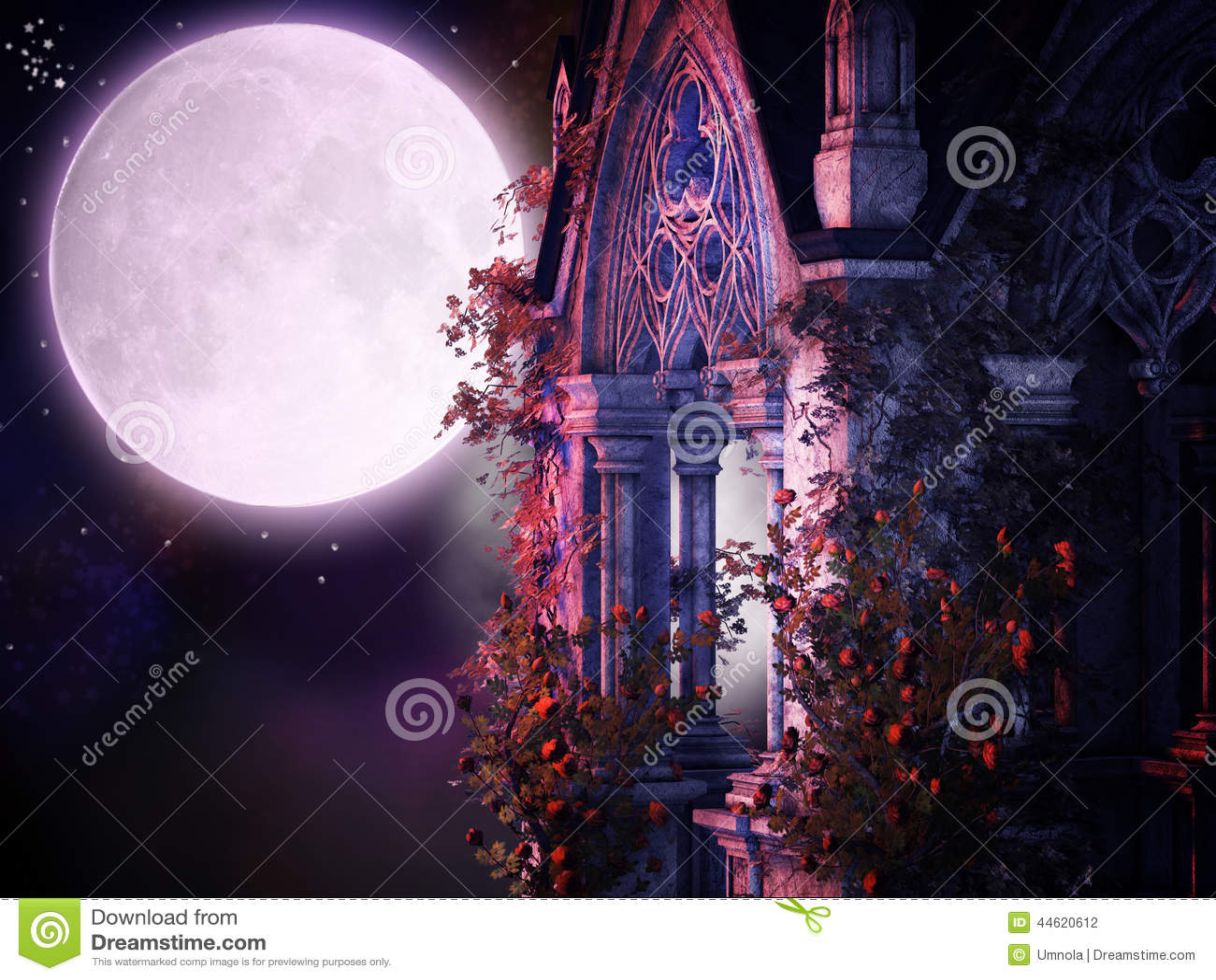Magische gotische nacht