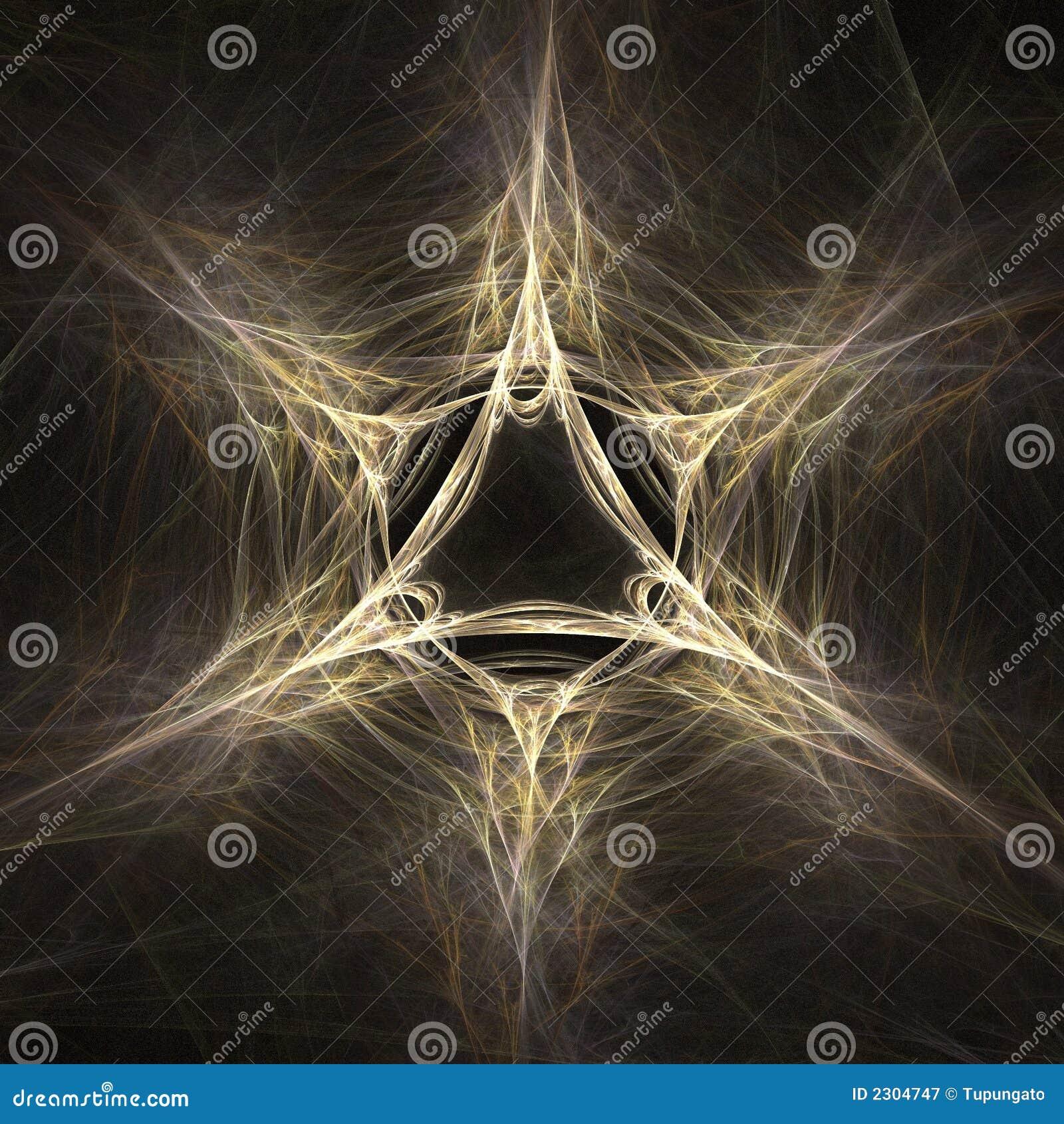Magische ster abstracte fractal