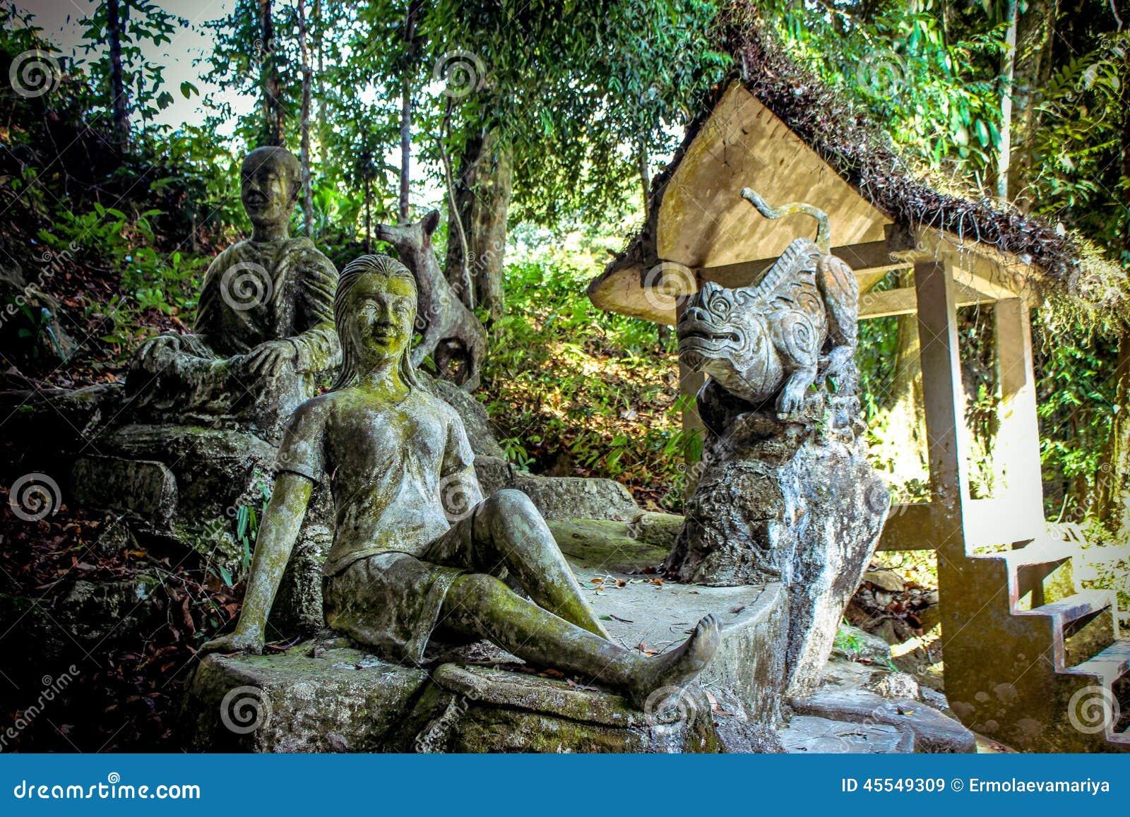 De Magische Tuin : Magische tuin in koh samui stock afbeelding afbeelding bestaande
