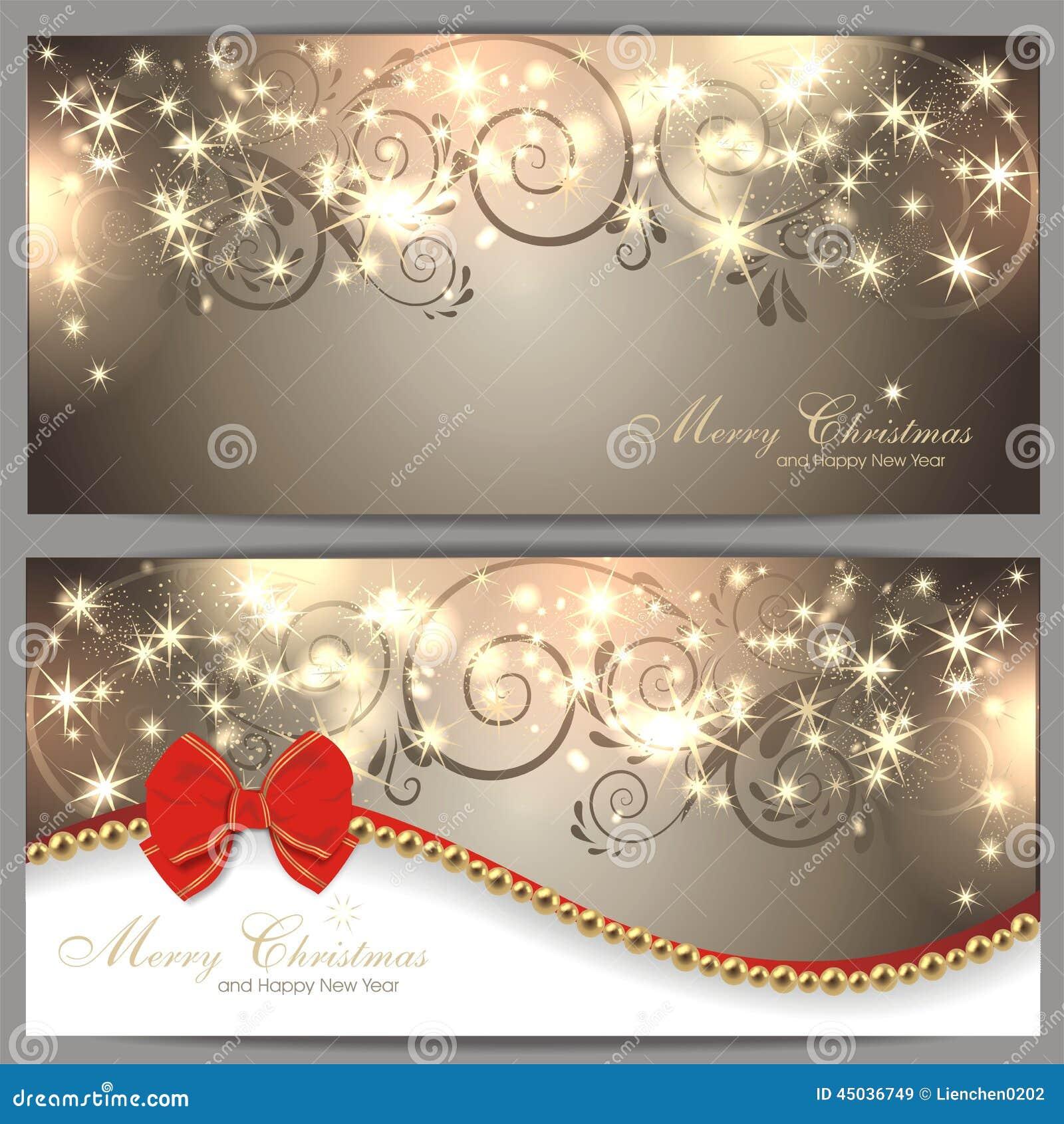 2 Magische Weihnachtskarten Vektor Abbildung - Illustration von ...