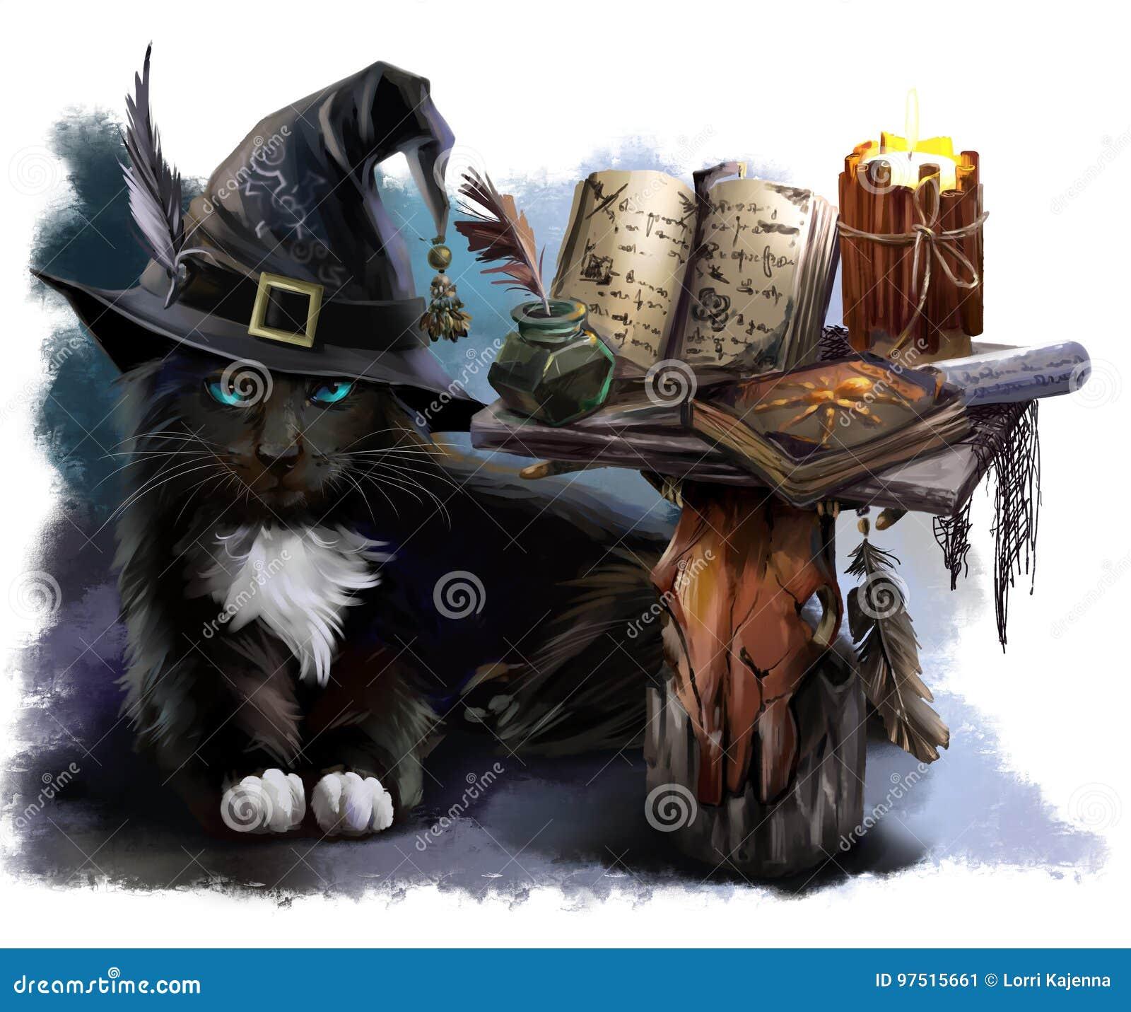 Magische zwarte kat