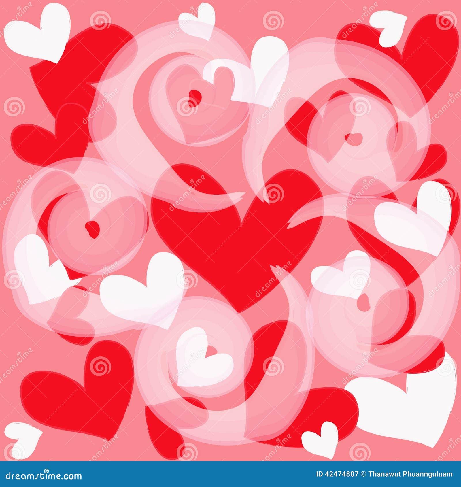 Magisches buntes Herz auf einem rosa Hintergrund