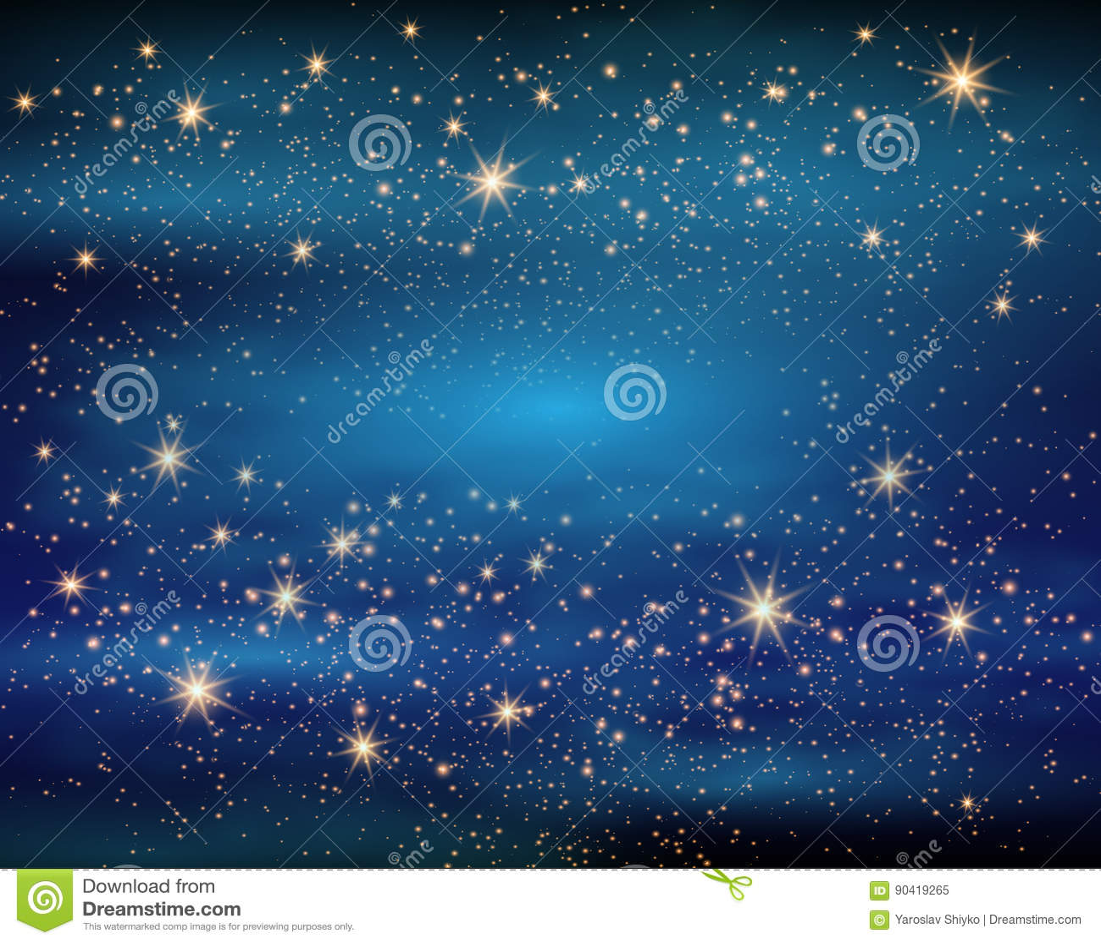 Magiskt utrymme Felik dammoändlighet abstrakt bakgrundsuniversum Blåa Gog och glänsande stjärnor också vektor för coreldrawillust