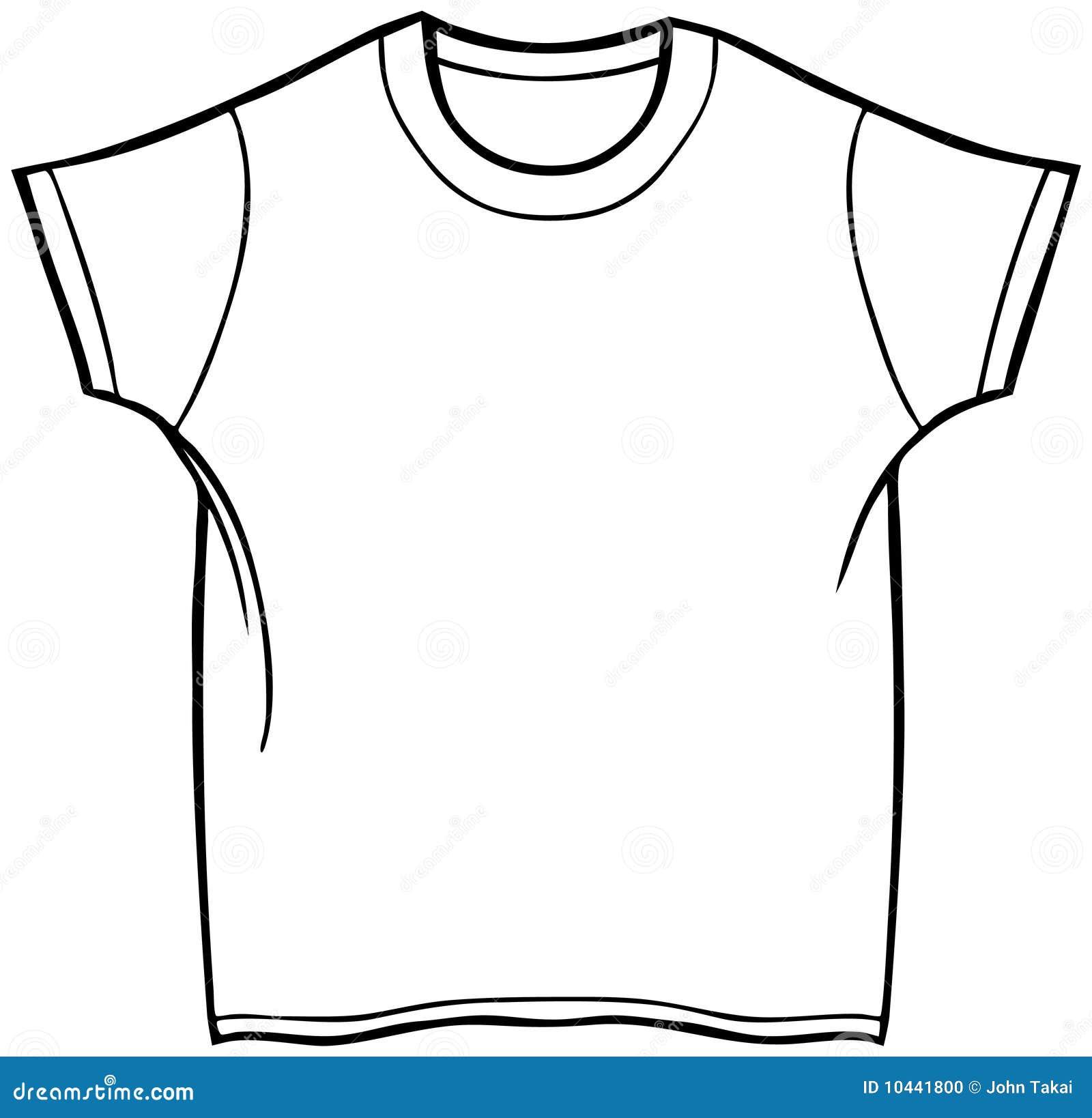 T Shirt Bianca Disegno Da Colorare Migliori Pagine Da