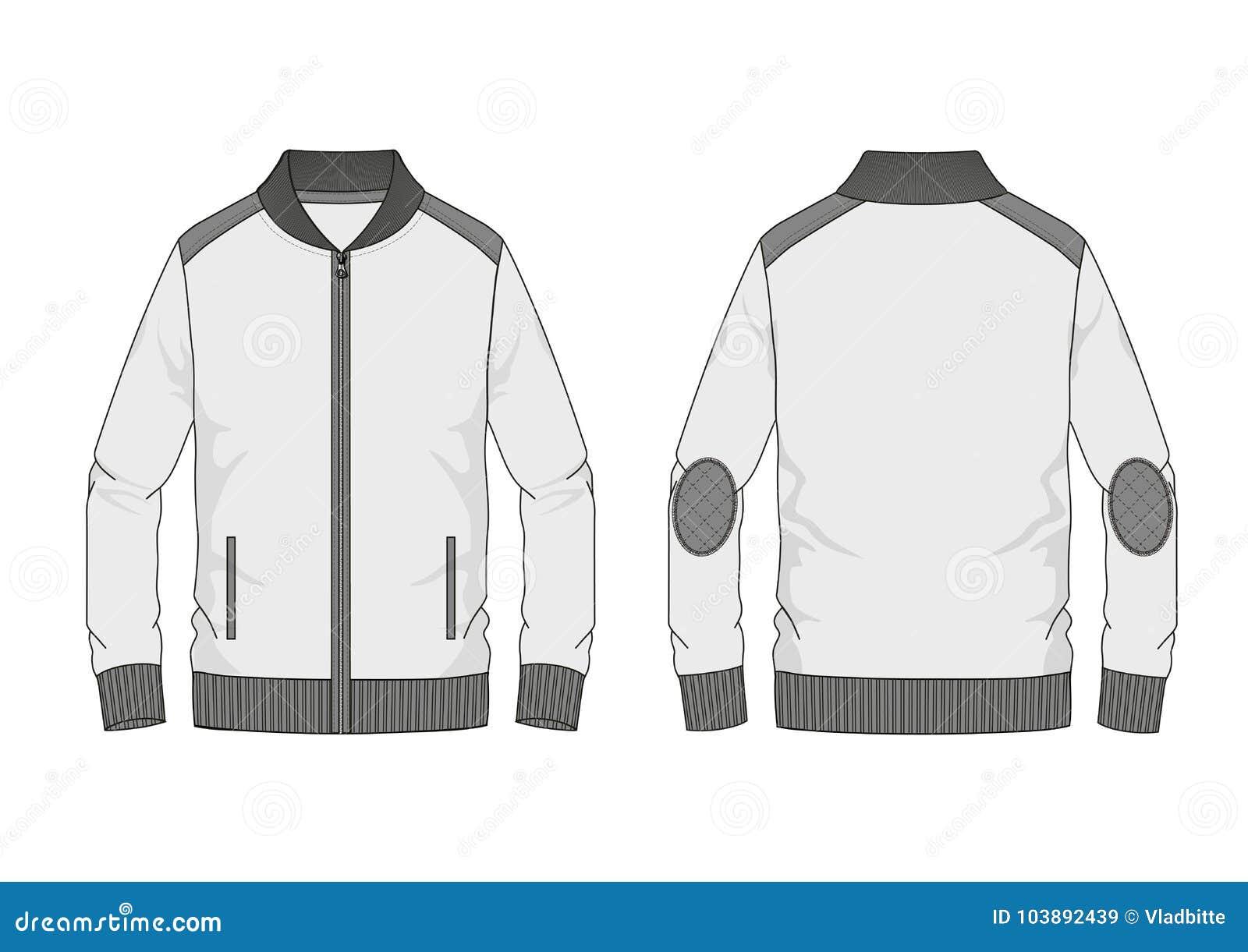 Maglietta felpata tecnica dell uomo di schizzo con il collare della banda nel vettore
