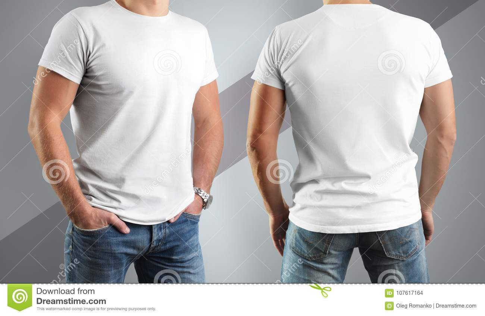 on sale be6e8 a223c Magliette Bianche Del Modello Sull'uomo, Posa Nella Parte ...