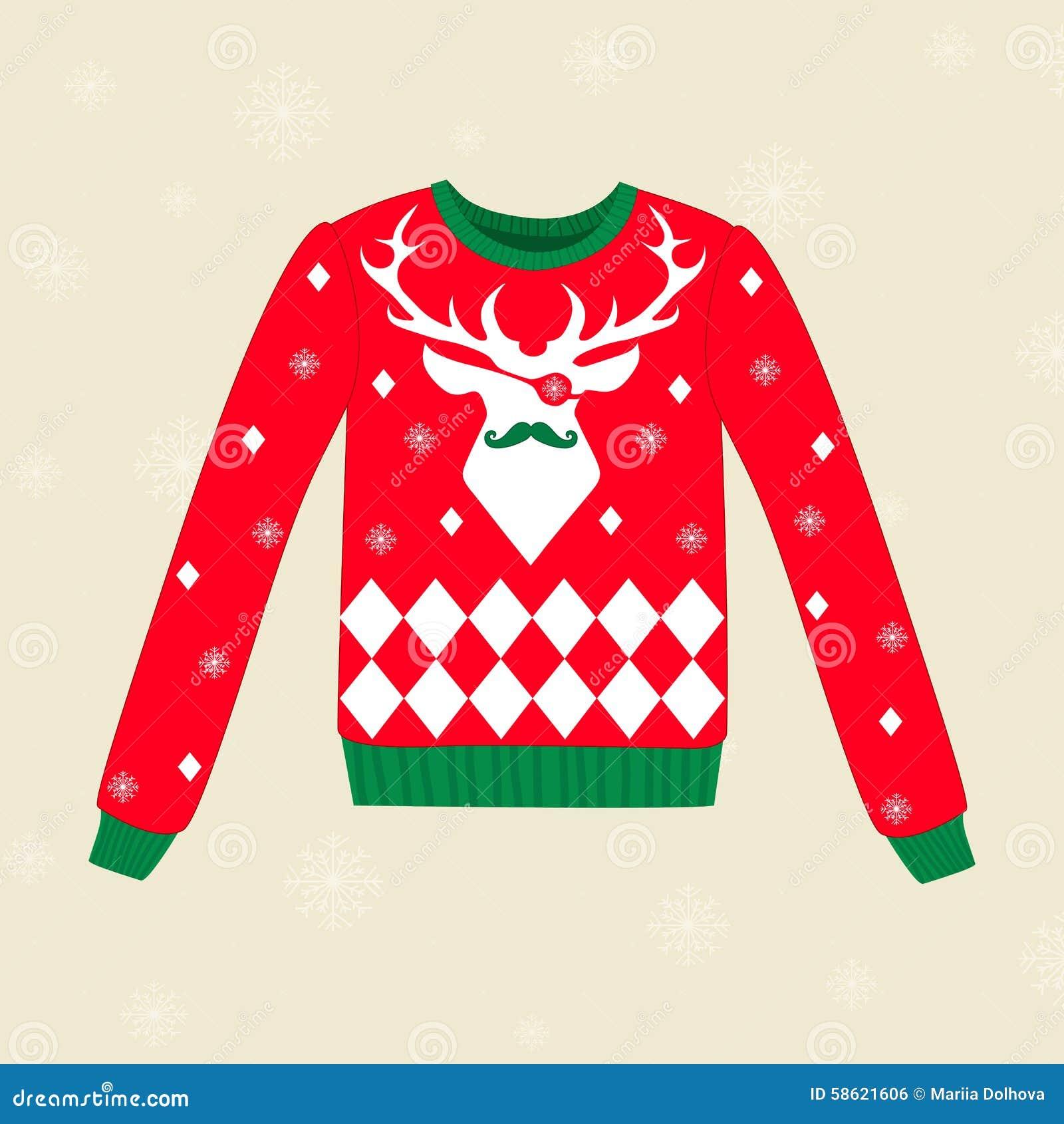 Maglione Brutto Di Natale Illustrazione Vettoriale ...