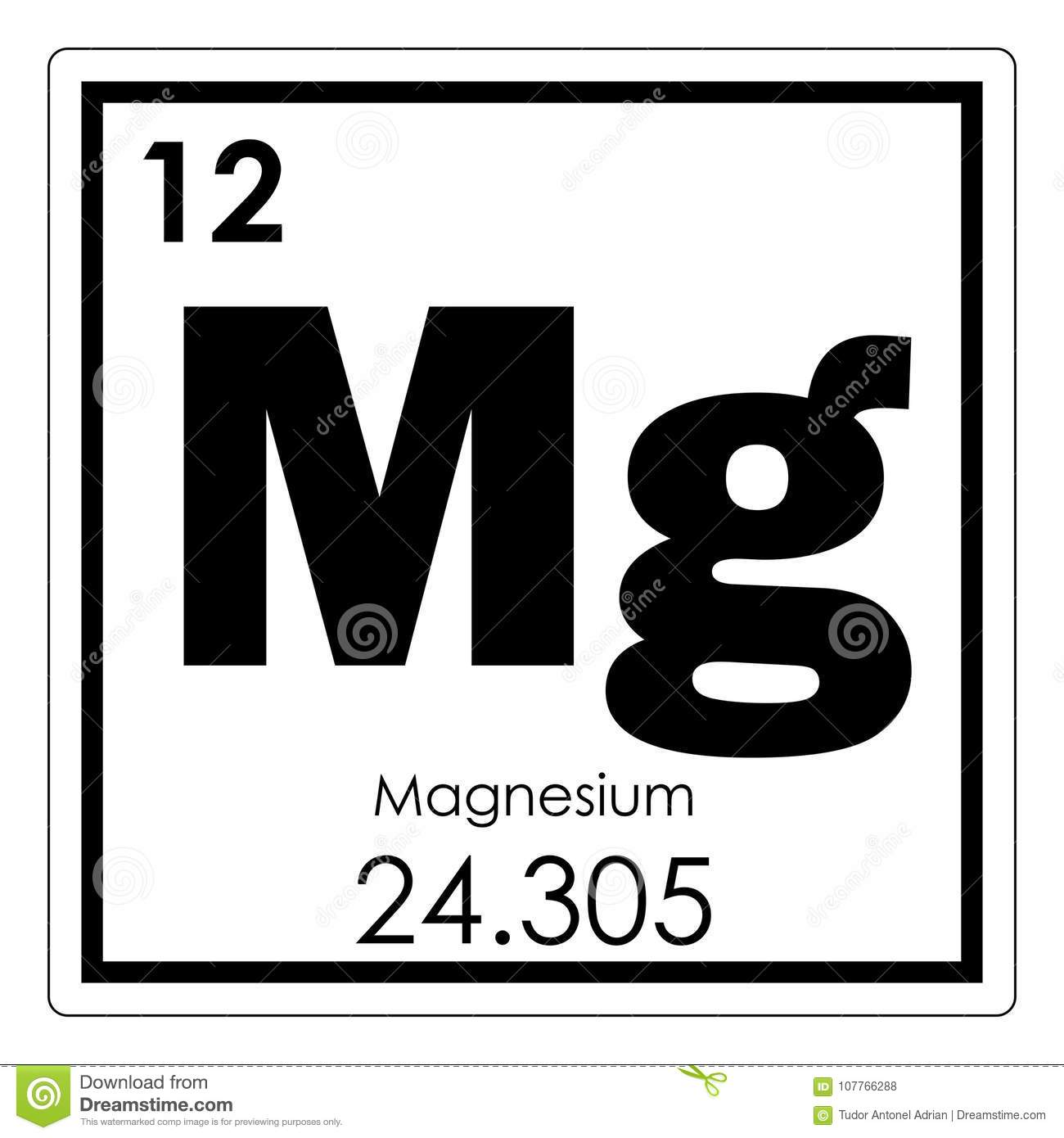 Magnesium chemical element stock illustration illustration of magnesium chemical element urtaz Choice Image
