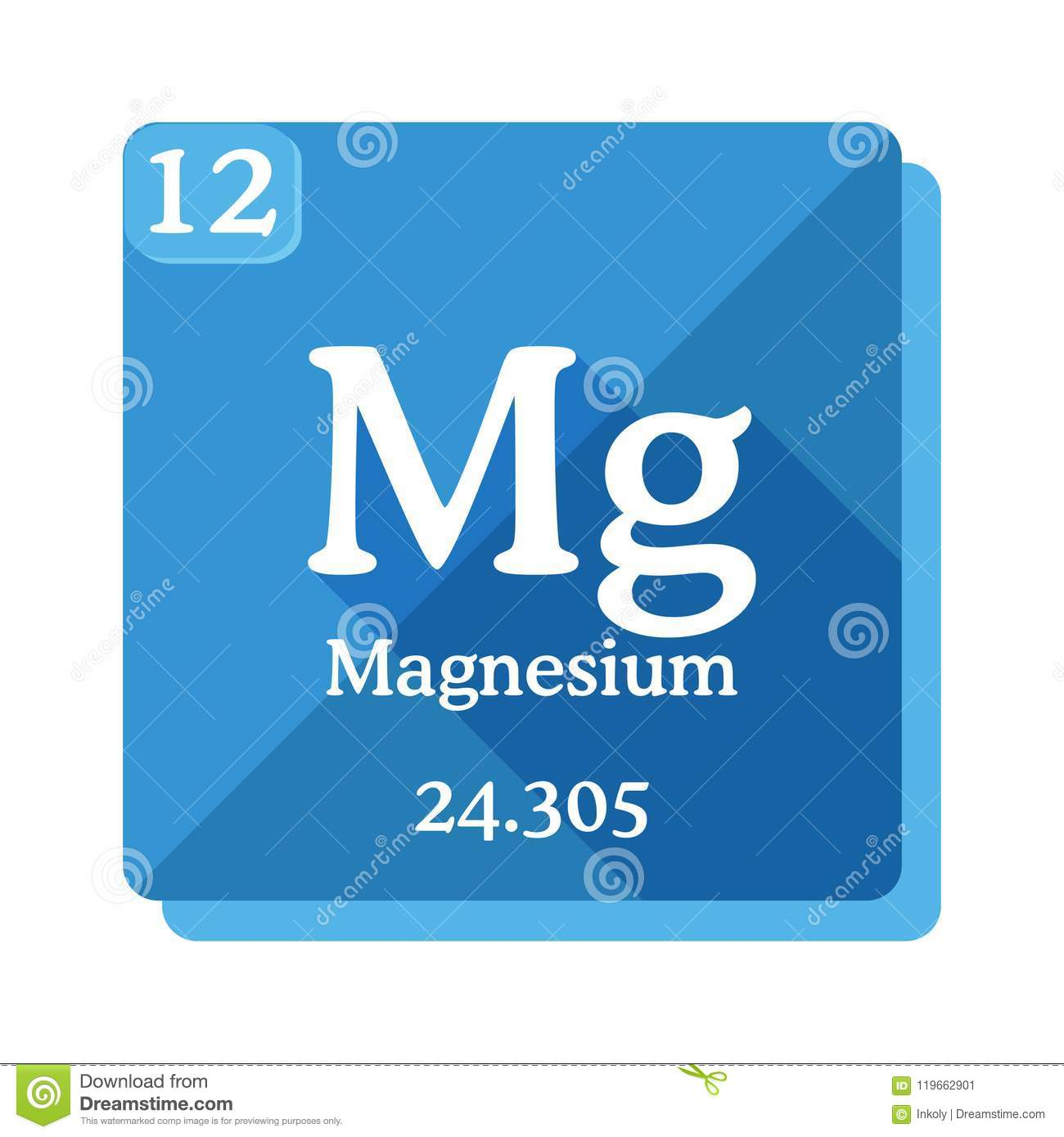 Magnesium Chemical Element Periodic Table Of The Elements Stock
