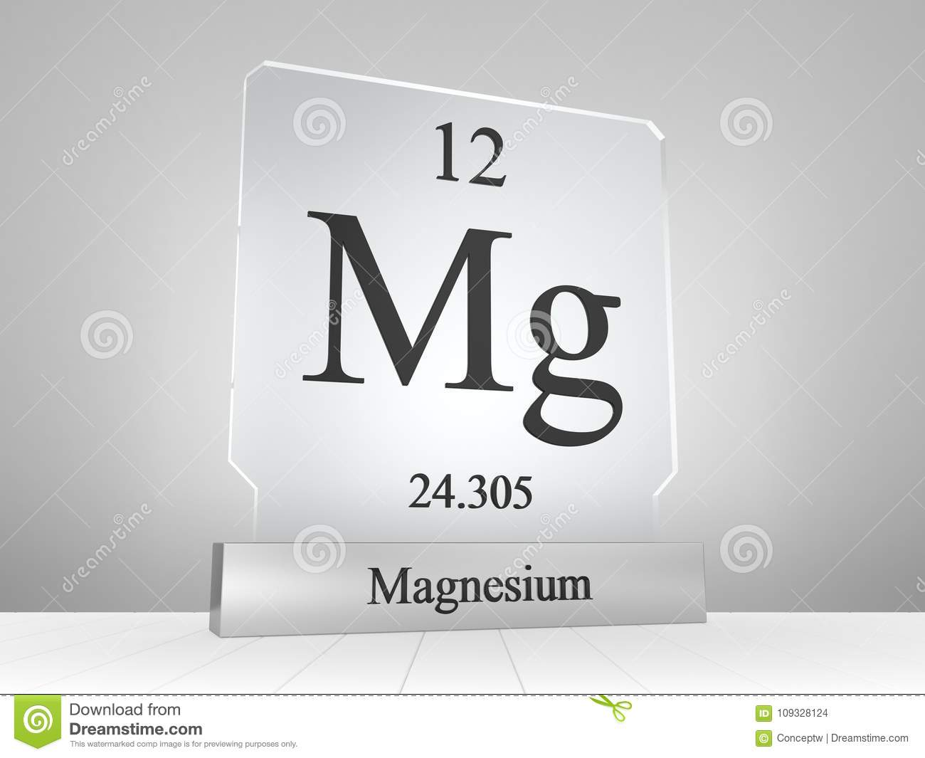Magnesium Symbol On Modern Glass And Metal Icon Stock Illustration