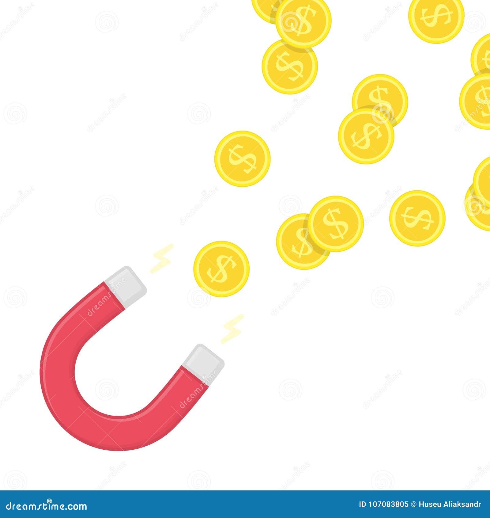 Magnesu pieniądze wektor
