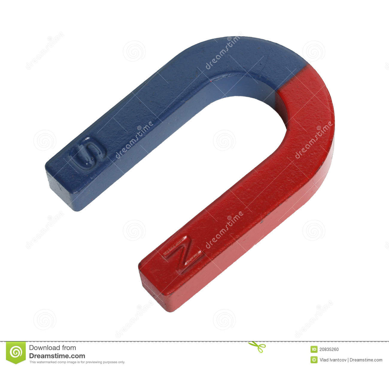 Magnet stock photo  Image of isolated, polarity, science - 20835260