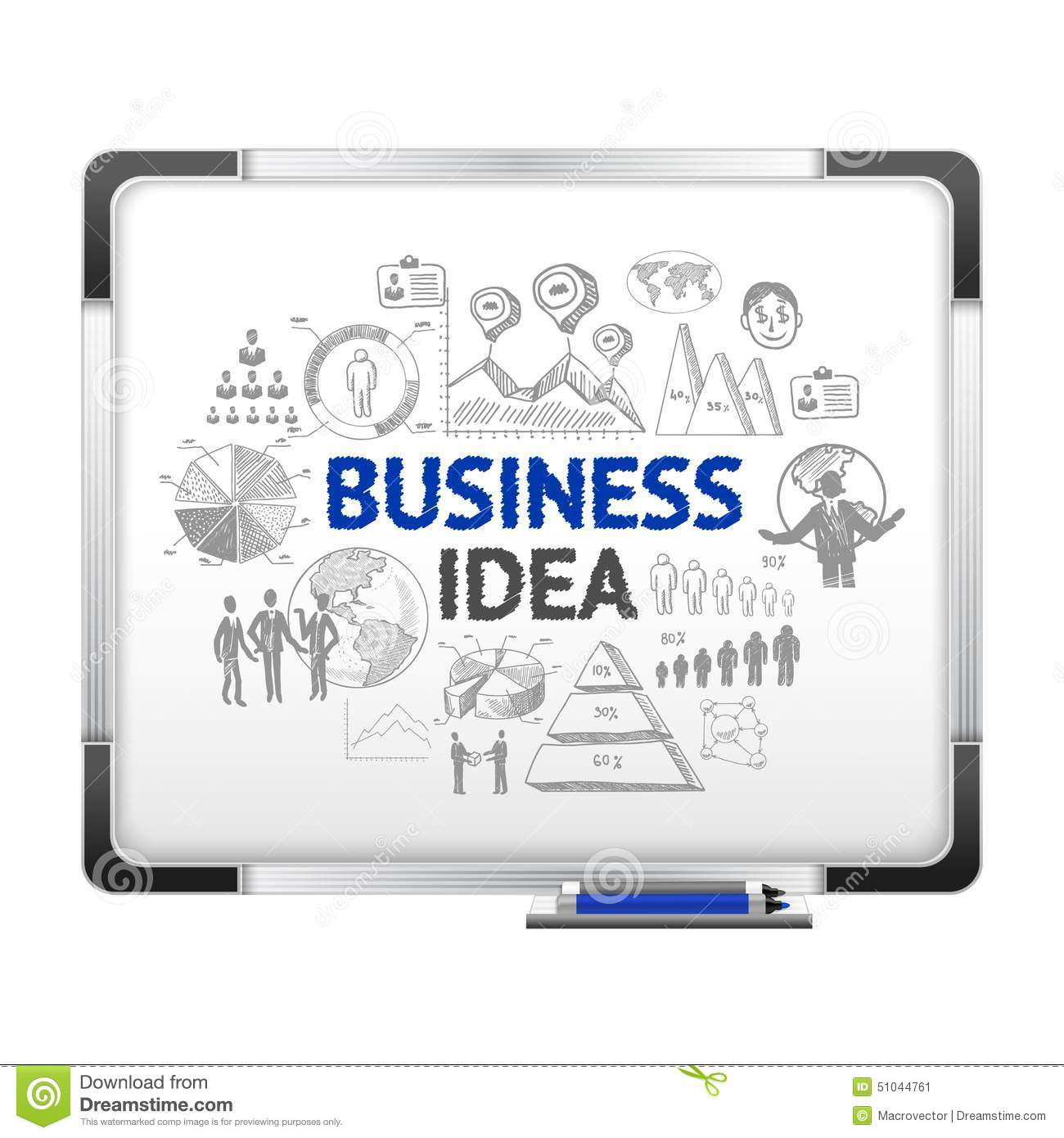 Magnet Board With Business Ideas Sketch Stock Vector Illustration Of Layout People 51044761