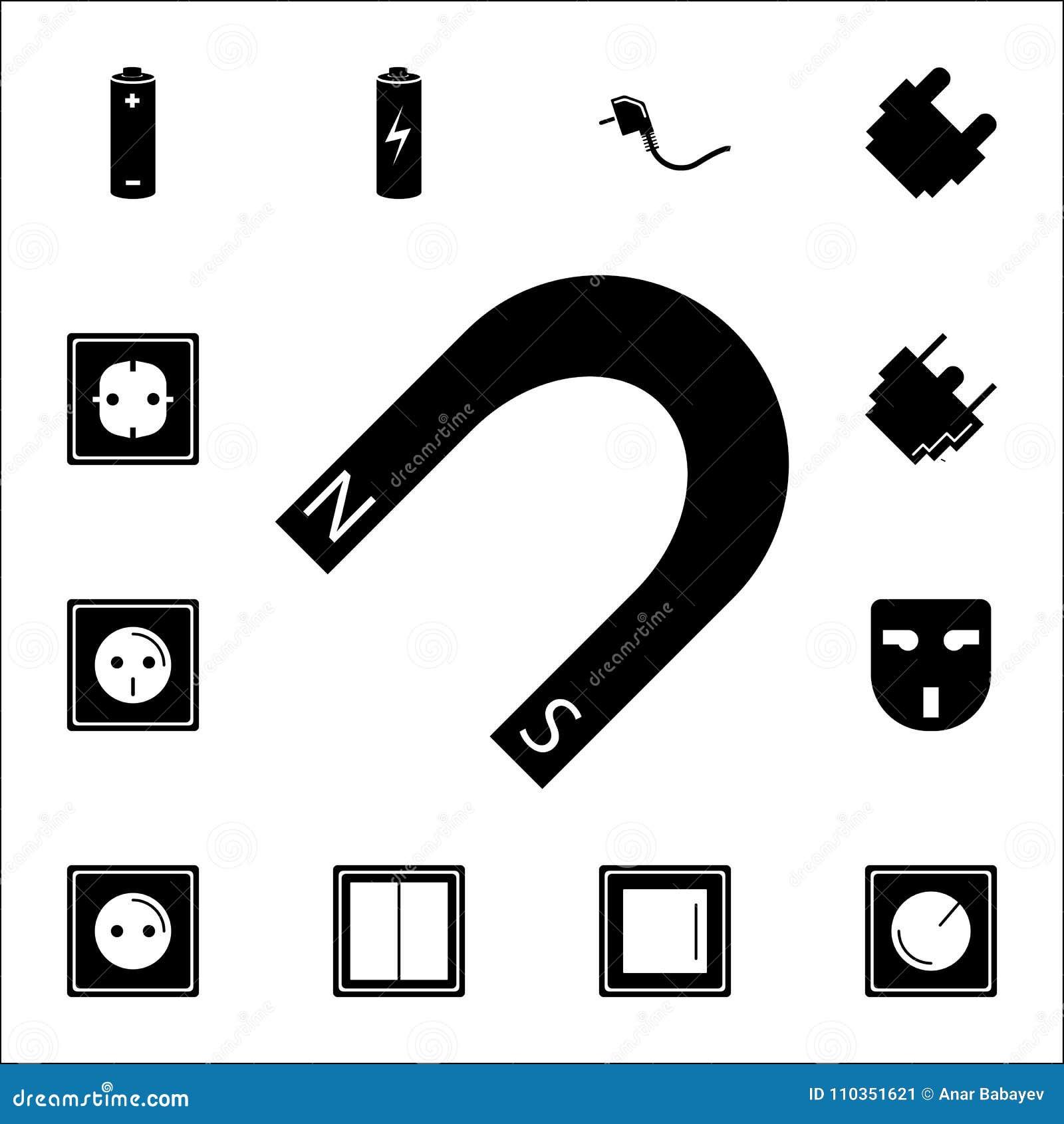 Magnet icon set of energy icons premium quality graphic design set of energy icons premium quality graphic design icons signs and symbols collection icons for websites web desig buycottarizona Choice Image