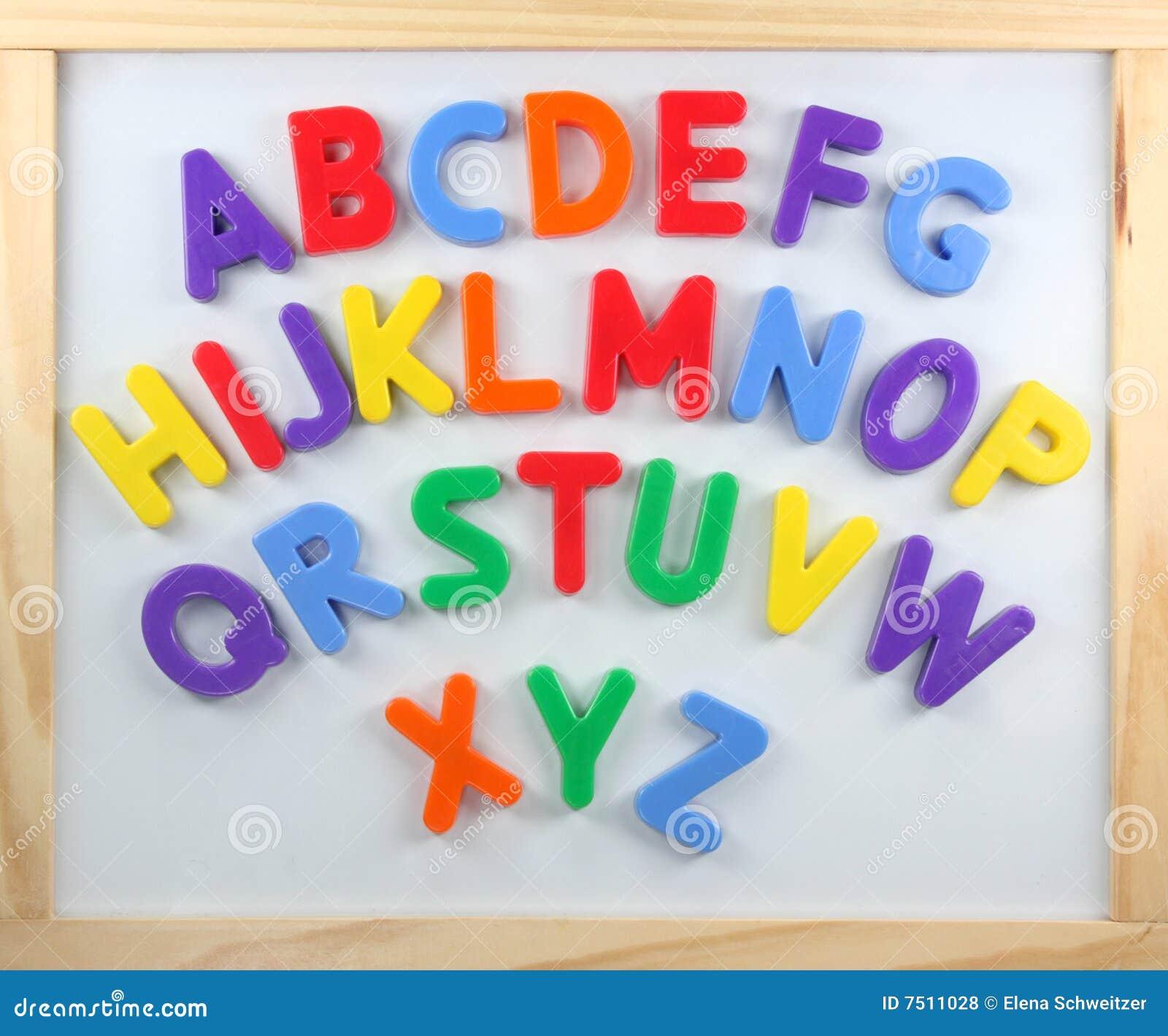 Magnet Letters Stock Photo Image Of Orange Teach Education 7511028