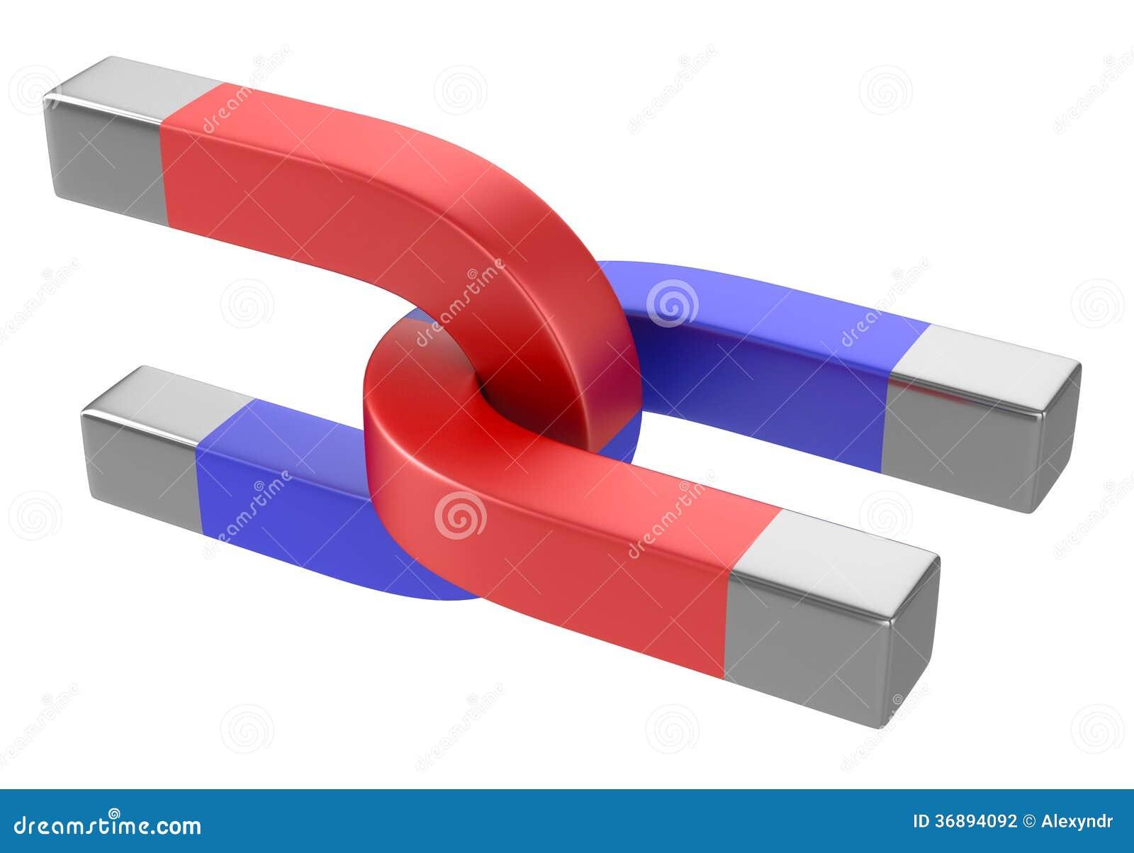 Download Magneti a ferro di cavallo illustrazione di stock. Illustrazione di attrazione - 36894092