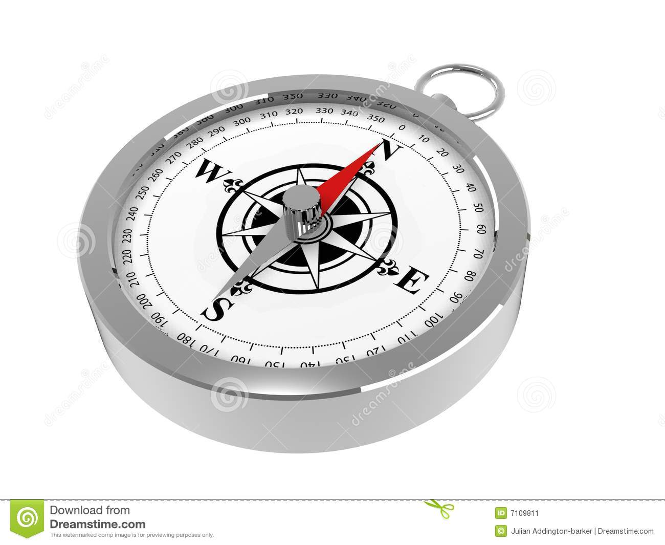A Magnetic Compass Stock Illustration Illustration Of
