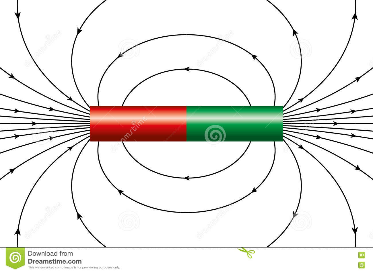 Magnetic field of a bar magnet stock vector illustration of magnetic field of a bar magnet royalty free vector ccuart Image collections