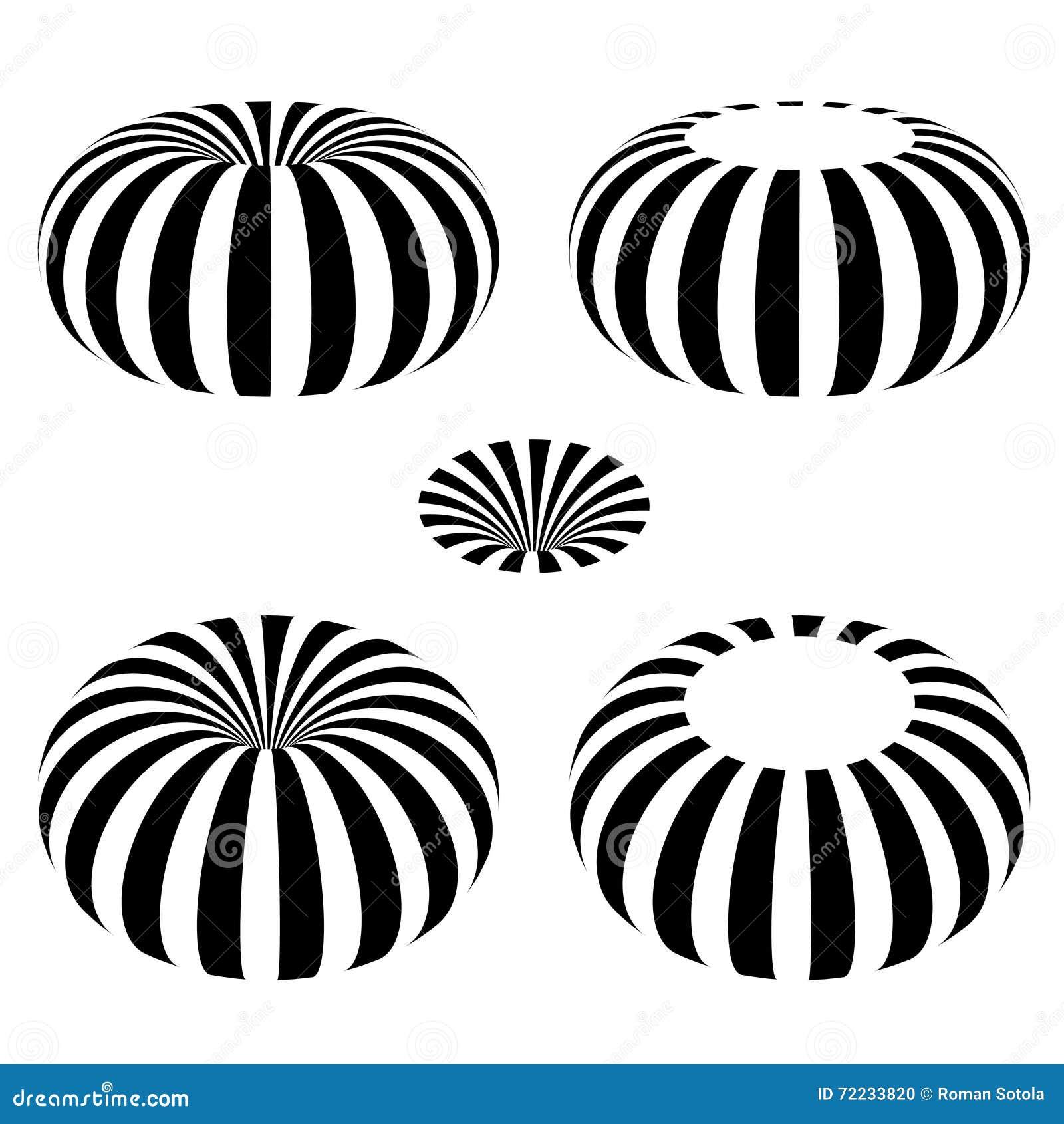 Magnetic Field Toroid Black Symbol Stock Vector Illustration Of