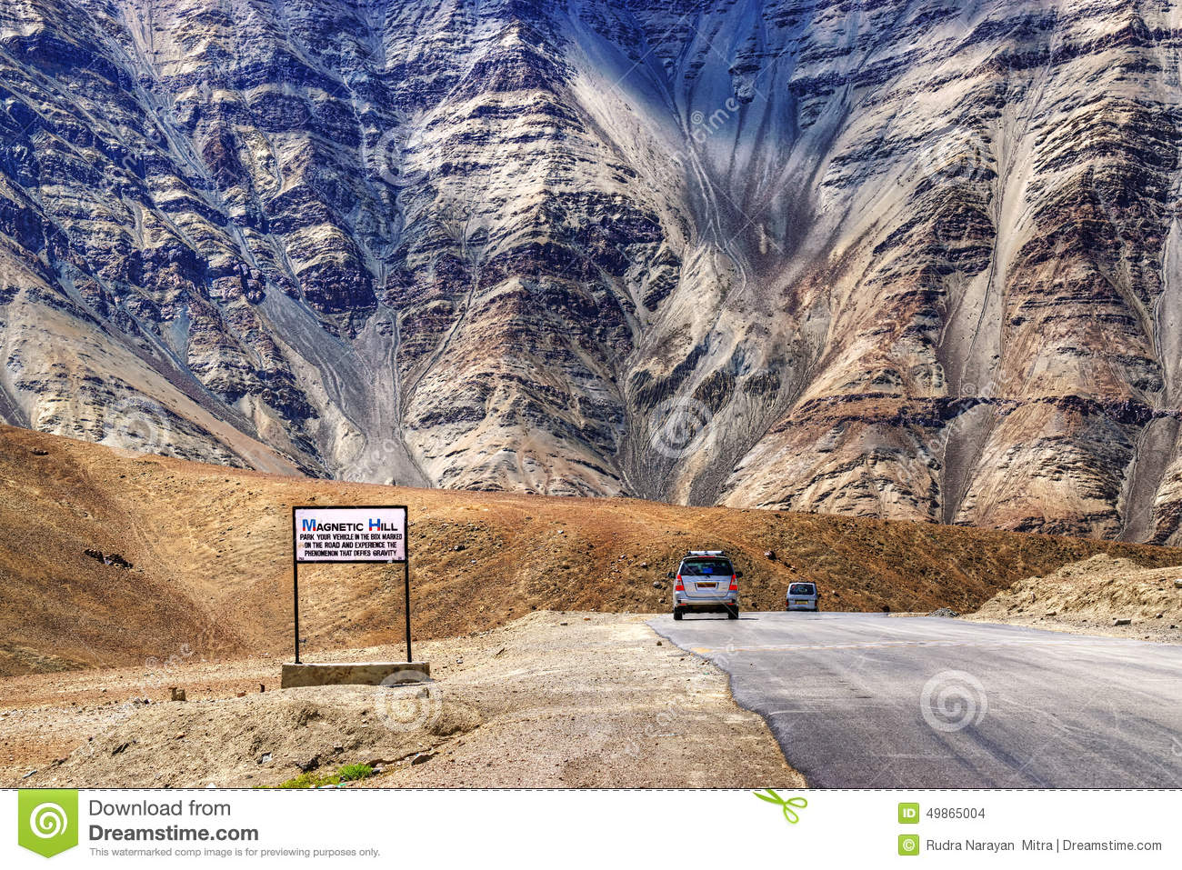 Magnetic Hill , Leh, Ladakh, Jammu And Kashmir, India Stock Photo ...