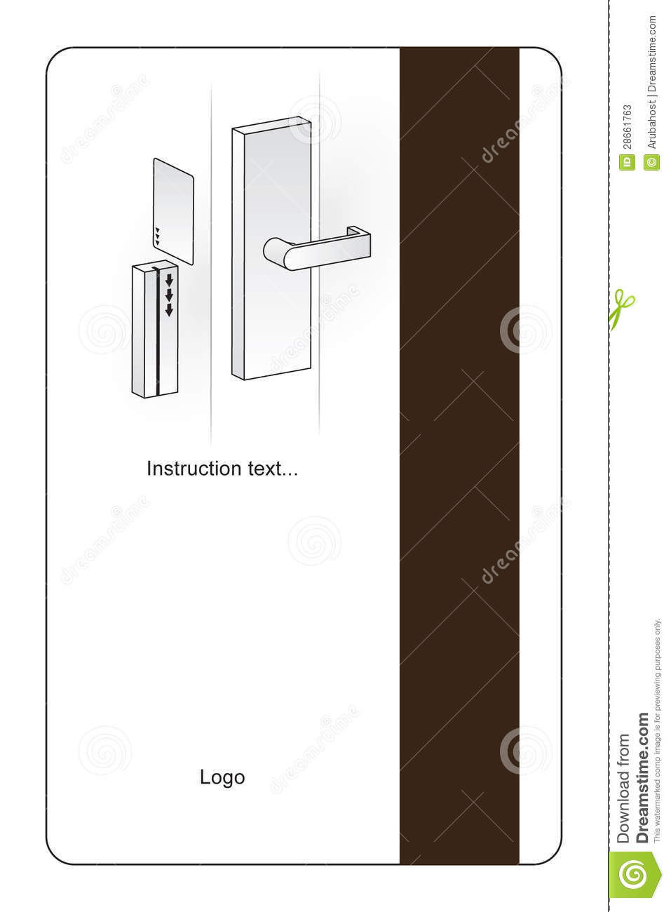 Magnetic Hotel Key Card Stock Vector Image Of Entrance