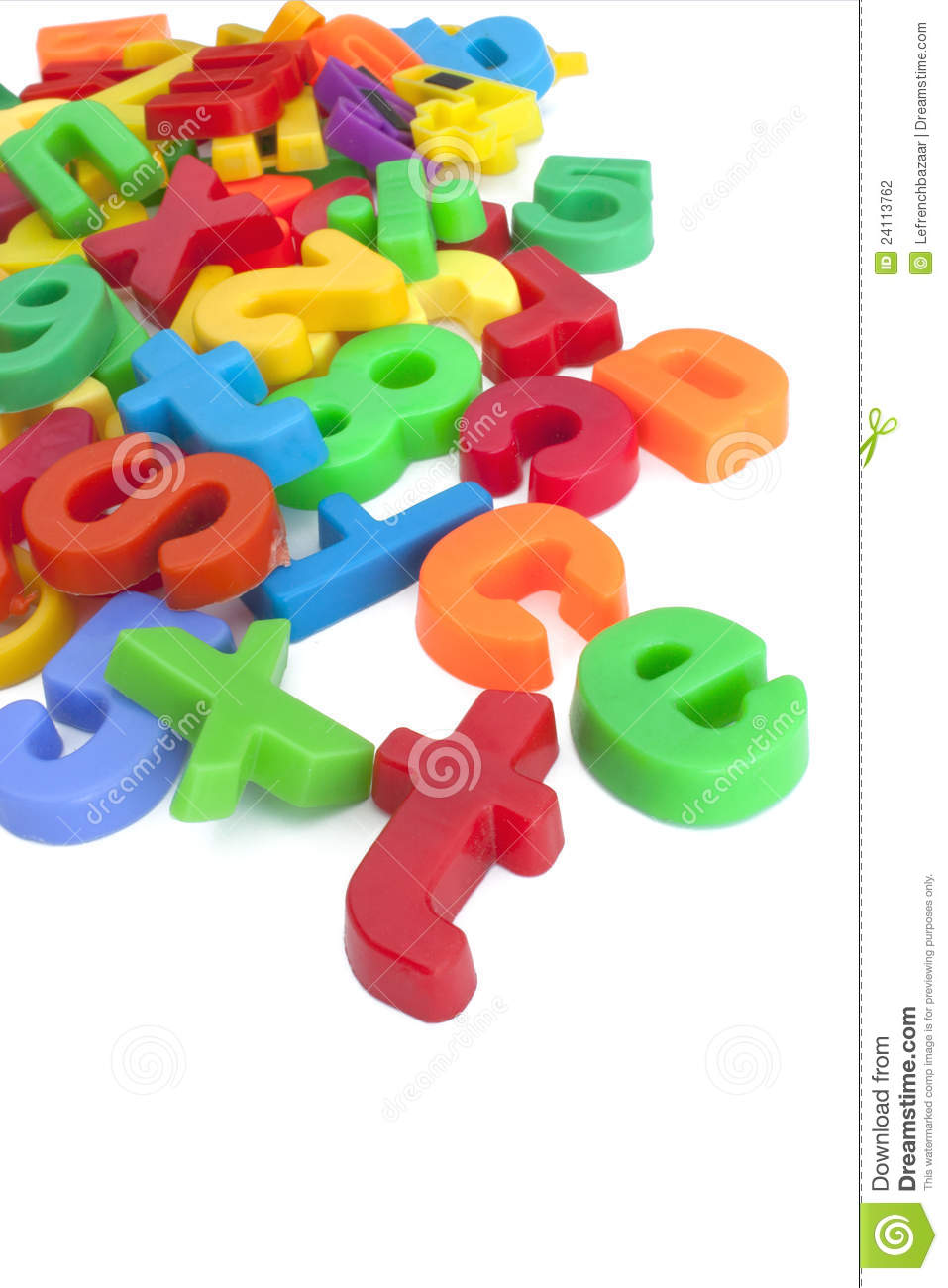 magnetic letters and numbers