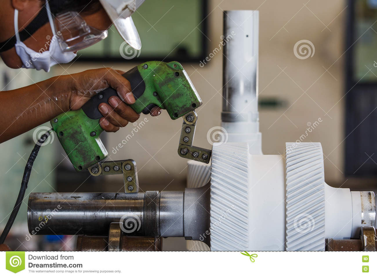 Magnetic Particle Inspection Stock Image - Image of particle