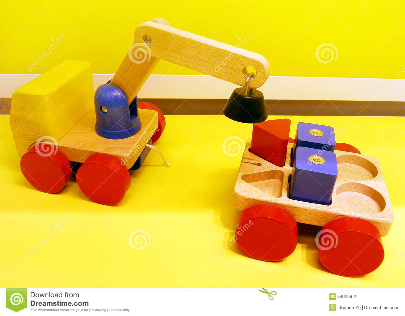 Magnetic toy trucks stock photo. Image of block, colorful ...