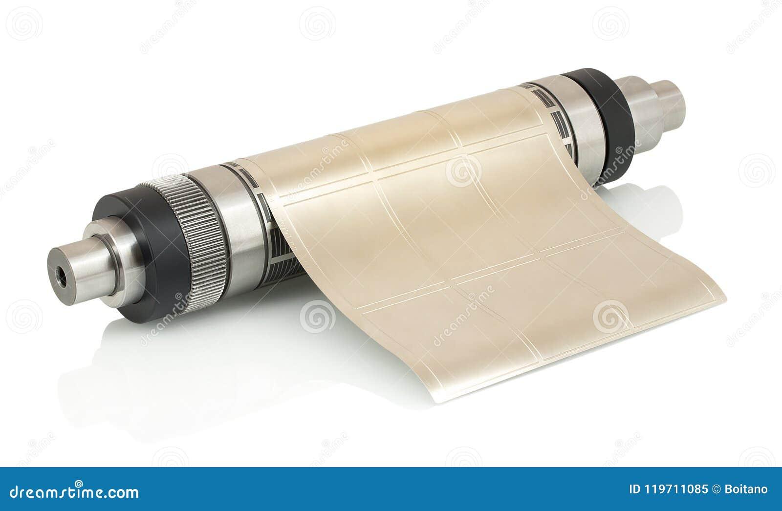Magnetischer Zylinder mit befestigtem flexiblem sterben für das Stempelschneiden auf der flexographischen Pressemaschine, die für