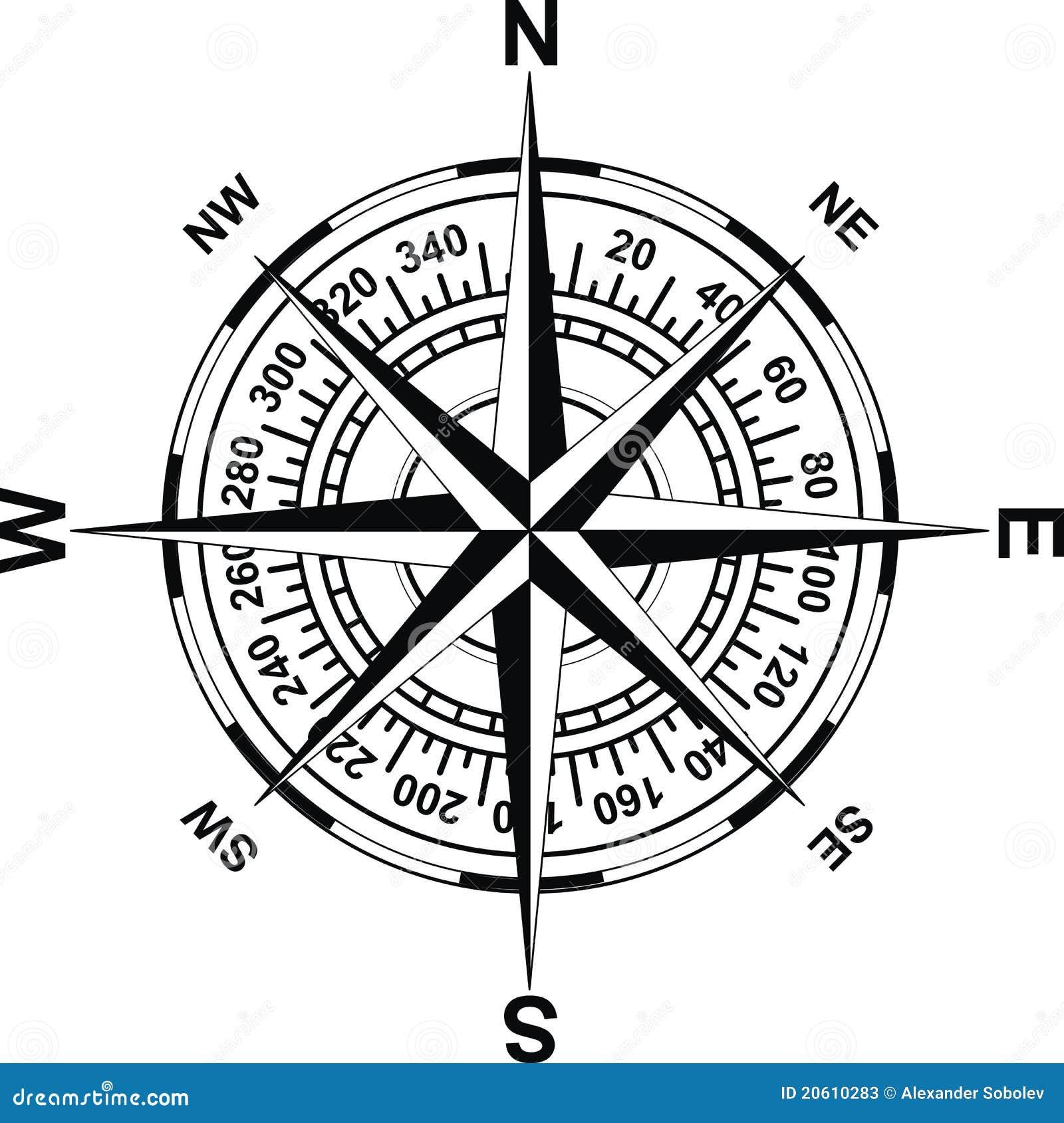 Magnetisk Antik Kompass Arkivfoton Bild 20610283
