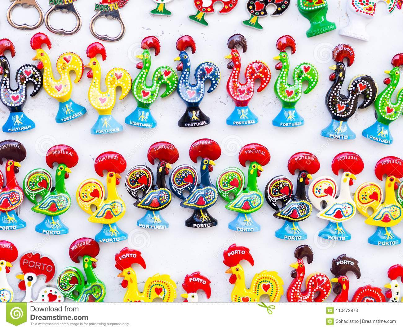 Magnets Shaped As The Galo De Barcelos Barcelos Rooster The S Stock