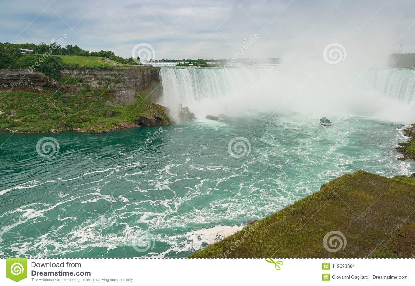 Magnificência de Niagara Falls, Canadá