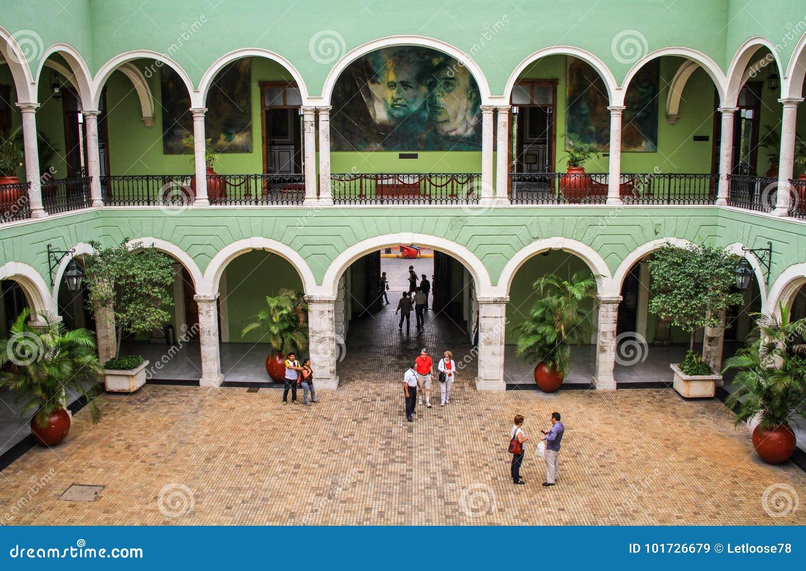 Inside The Governments Palace Of Yucatan, Merida, Yucatan