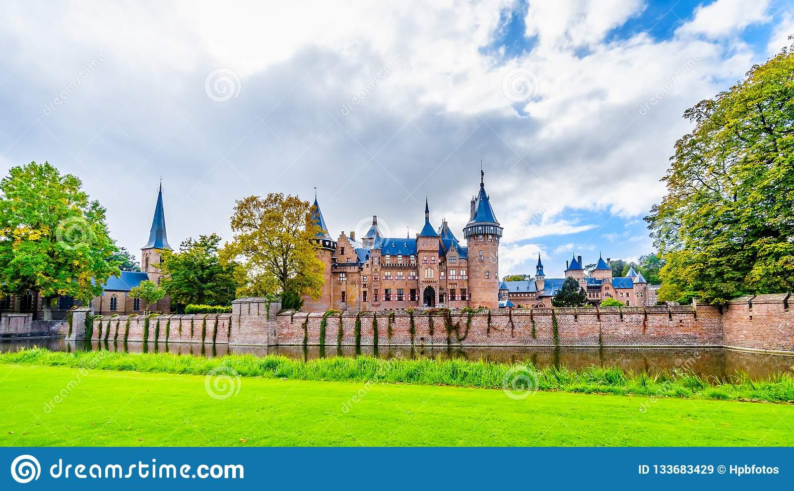 Magnificent Castle De Haar surrounded by a Moat and Beautiful Gardens. A 14th century Castle and restored in the late 19th century