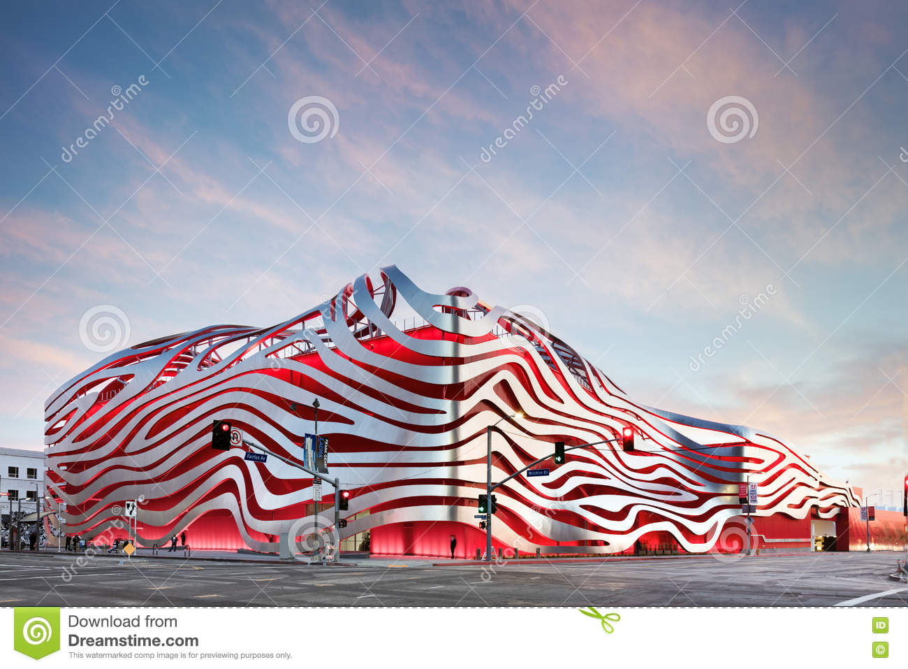 Magnificent Exterior of Petersen Automotive Museum
