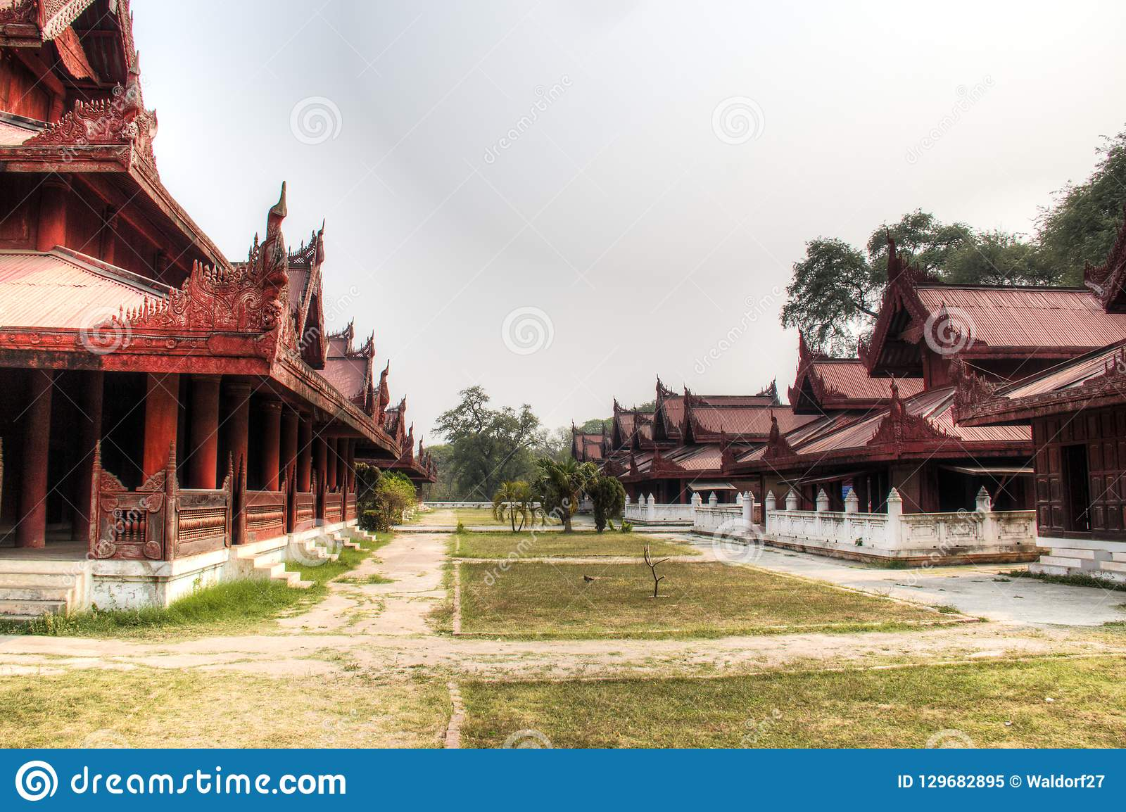 View over Mandalay palace in Myanmar