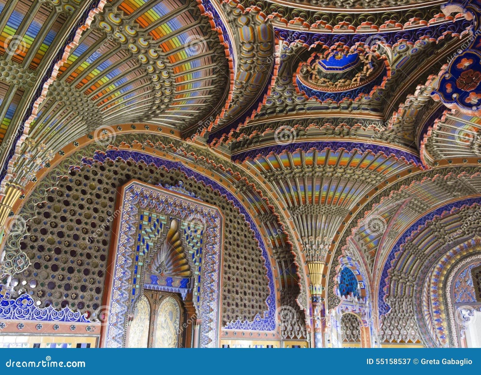 Reggello Italy  city images : REGGELLO, ITALY MAY 2 2015: The magnificent Peacock Room inside the ...