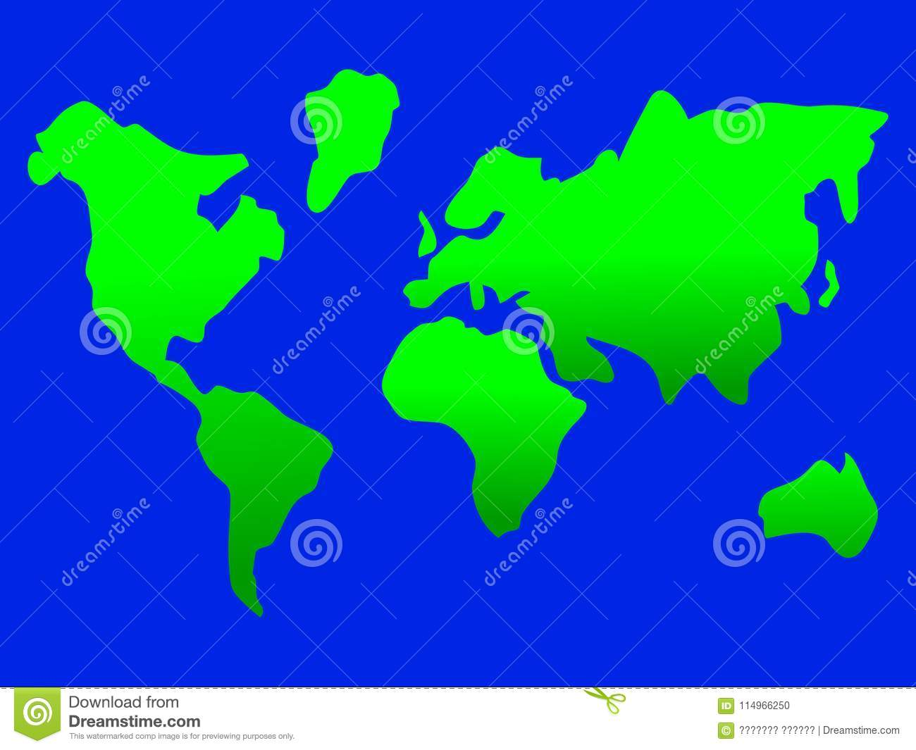 simple map of earth Magnificent Simple Map Design Of The Earth Stock Vector