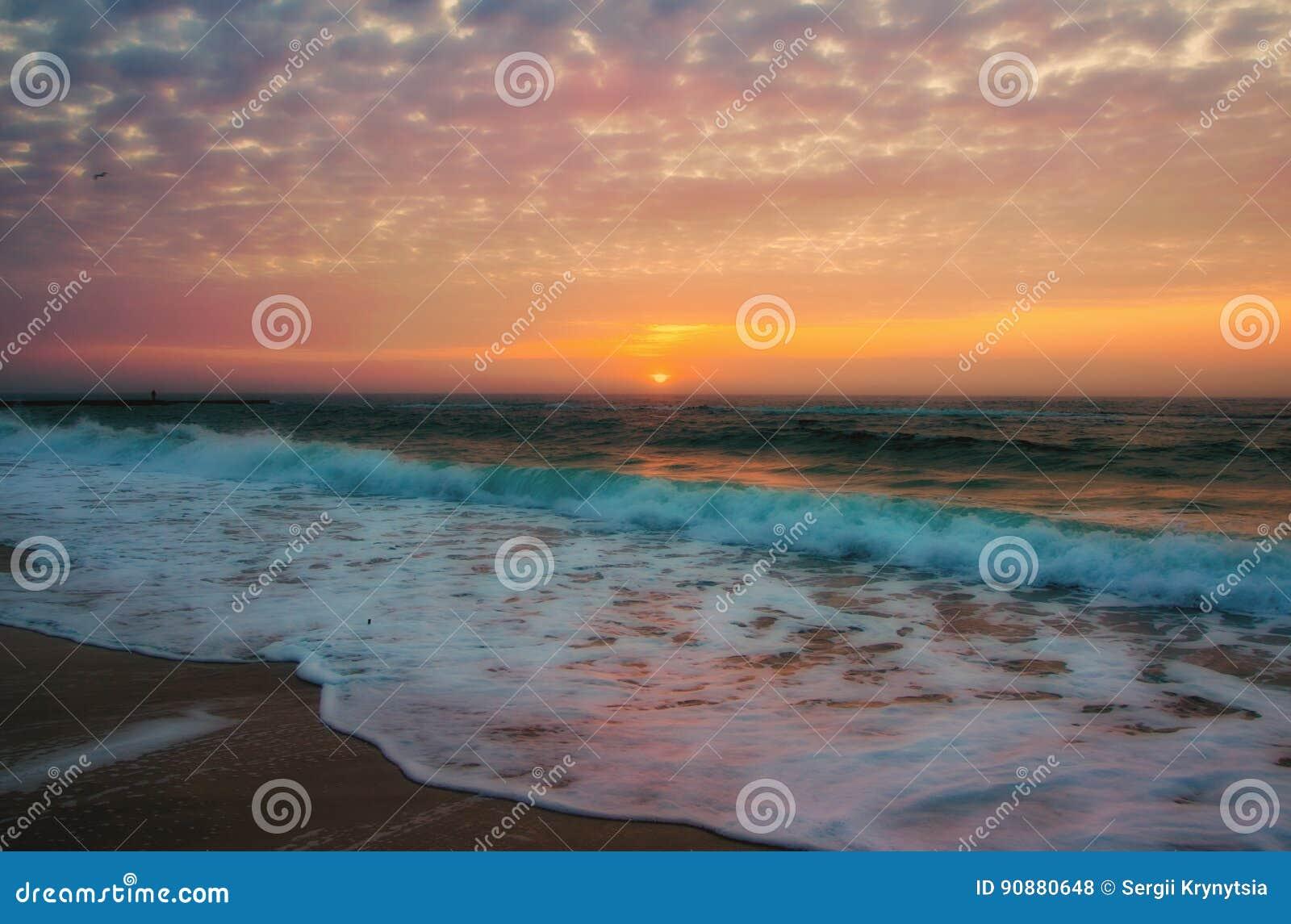 Magnificent sunrise over sea