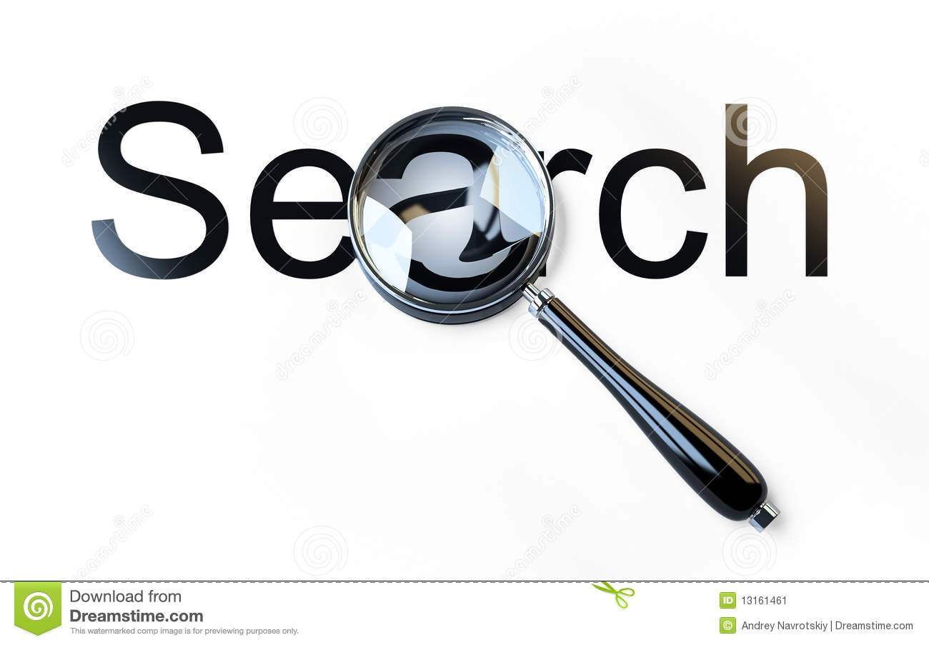 Search Magnifying Glass Isolated Icon Royalty-Free Cartoon