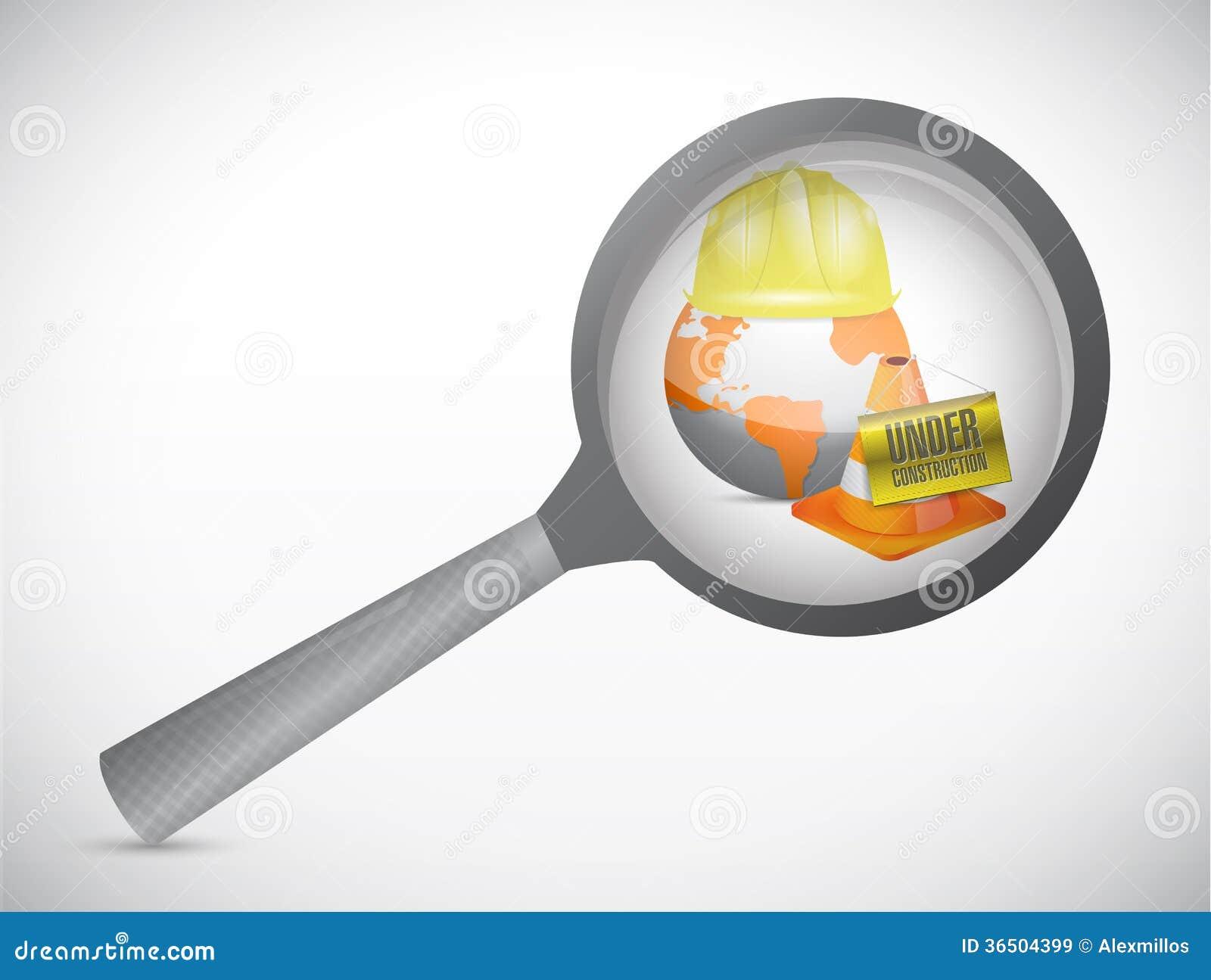 Magnifiez l illustration en construction en verre