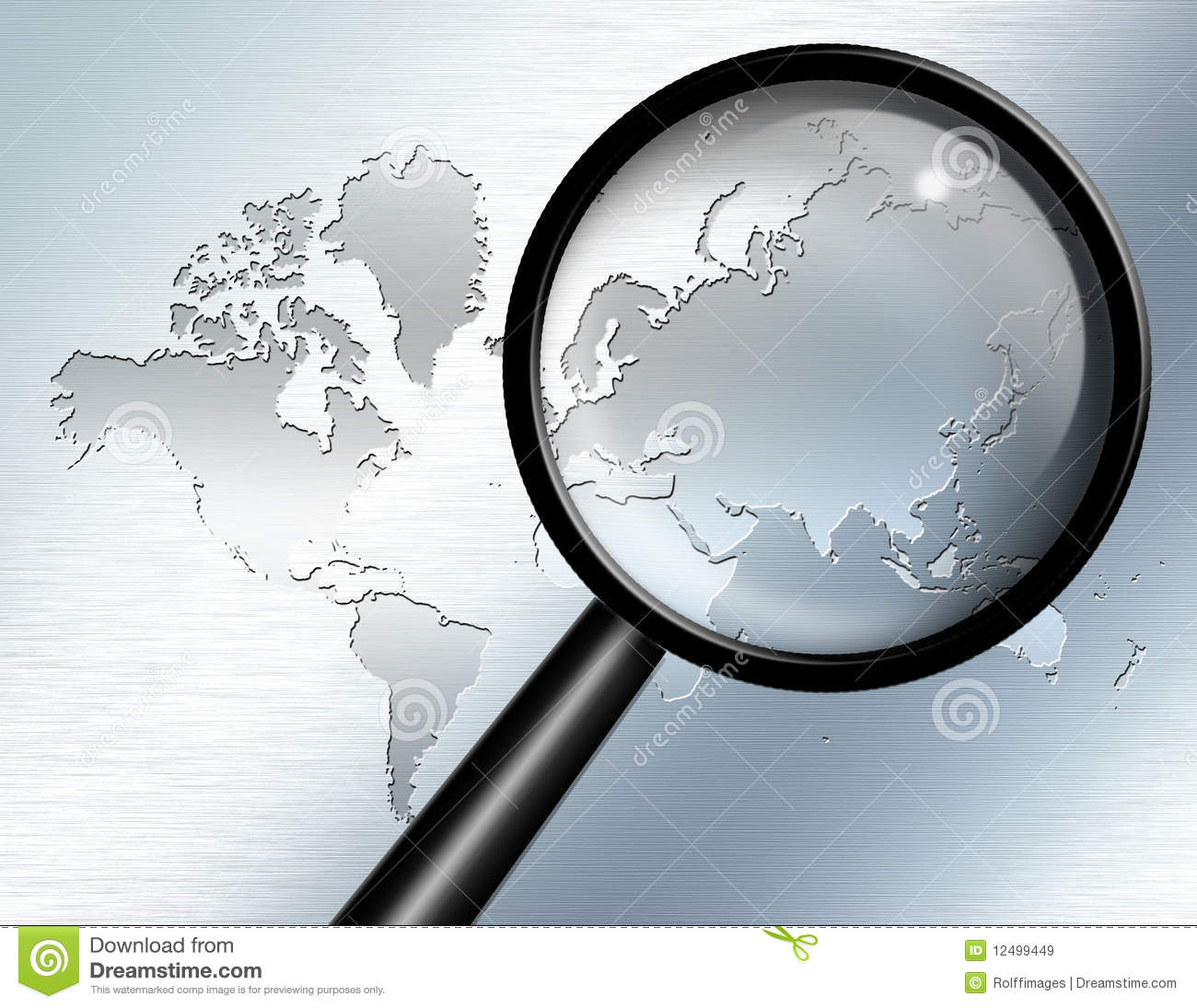 Magnify Glass Africa Royalty Free Stock Photography - Image: 14703417