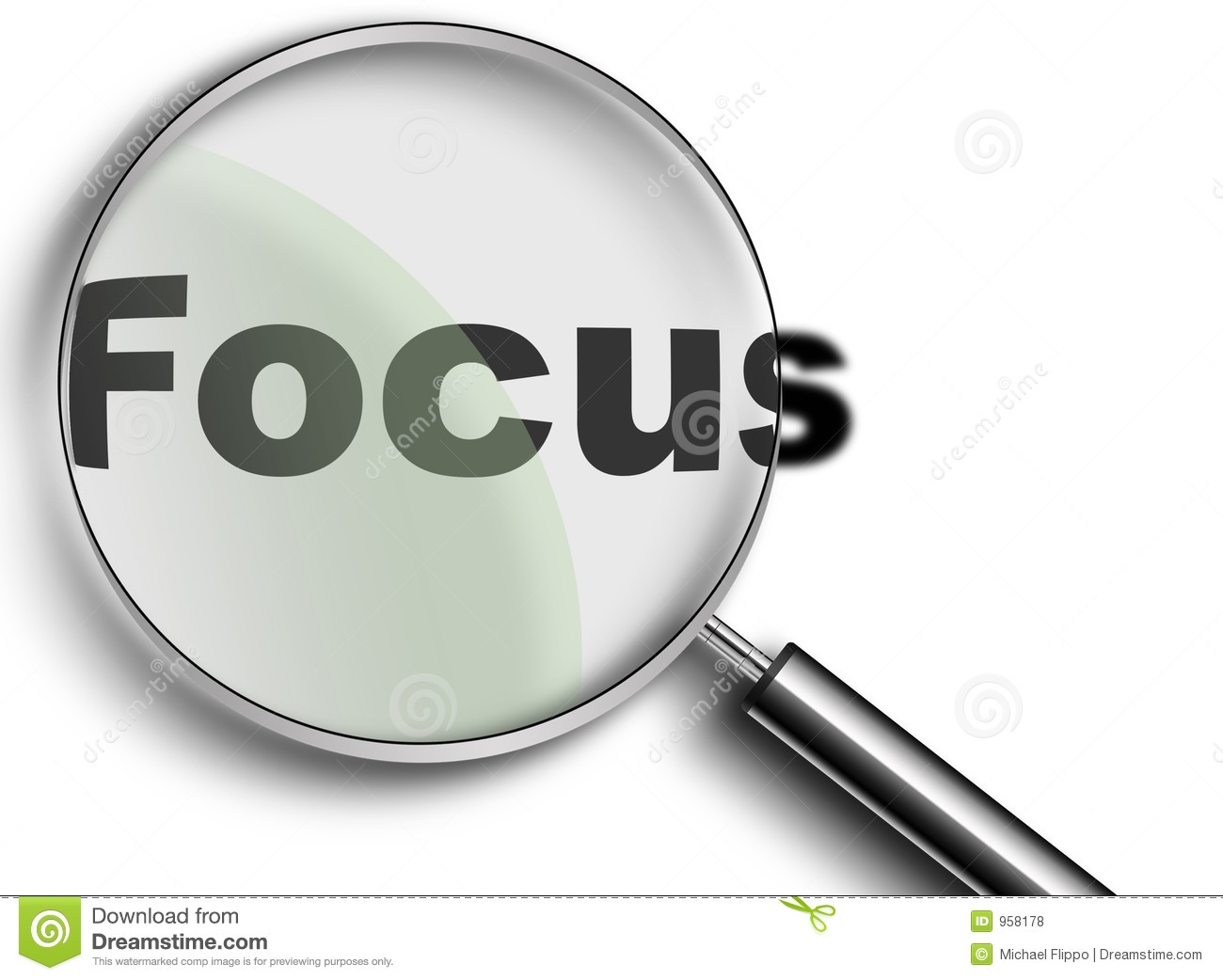 Magnifying Glass With Focus Royalty Free Stock Photos - Image: 958178